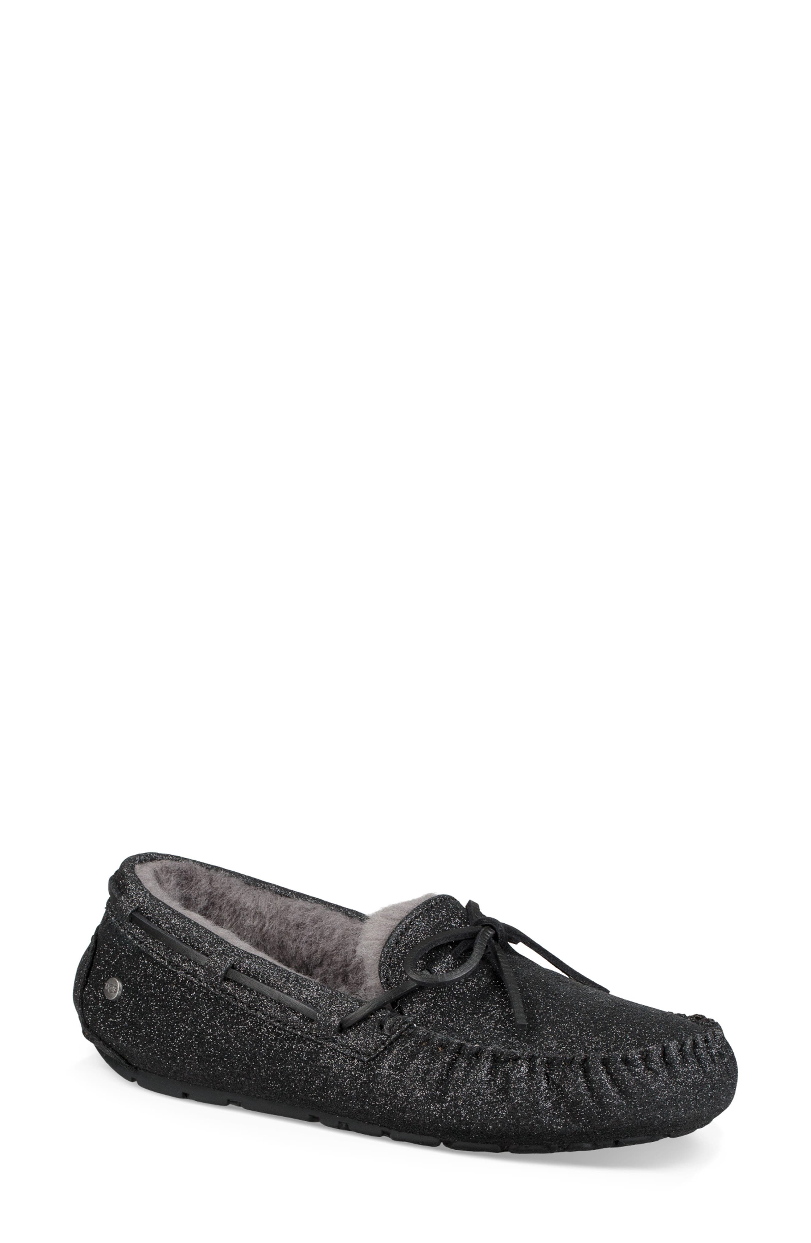 Dakota Sparkle Slipper,                         Main,                         color, BLACK