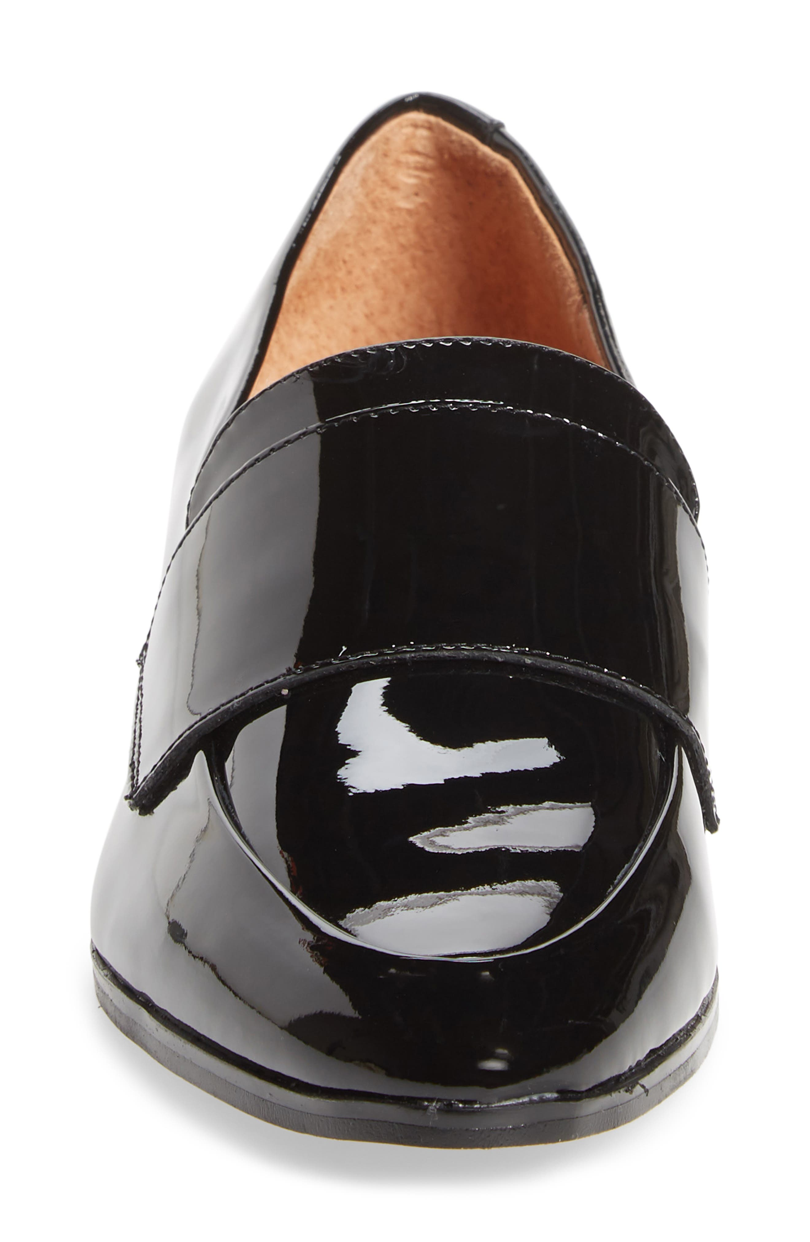 Emilia Loafer,                             Alternate thumbnail 4, color,                             BLACK PATENT LEATHER