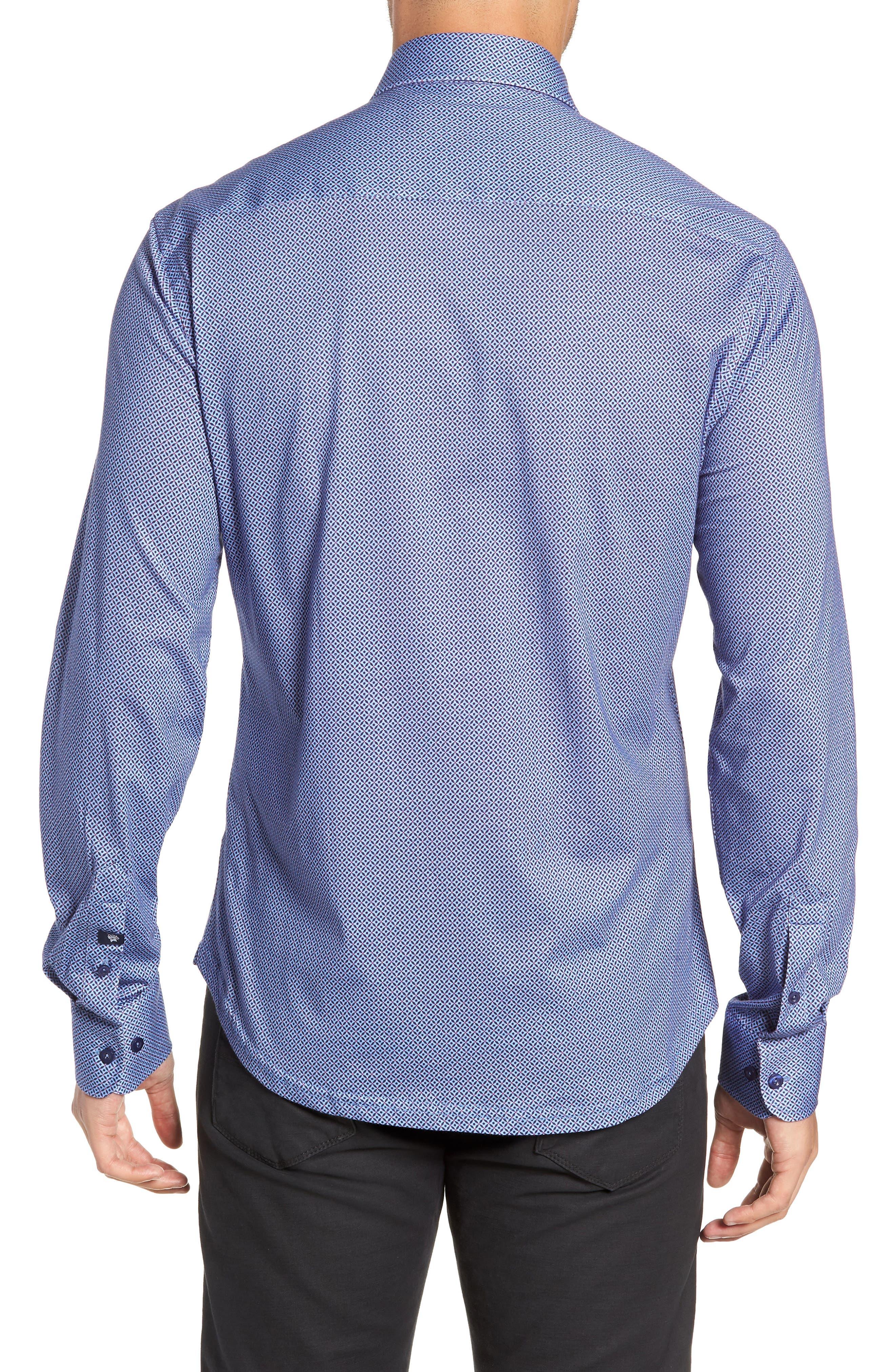 Trim Fit Sport Shirt,                             Alternate thumbnail 3, color,                             GRAY