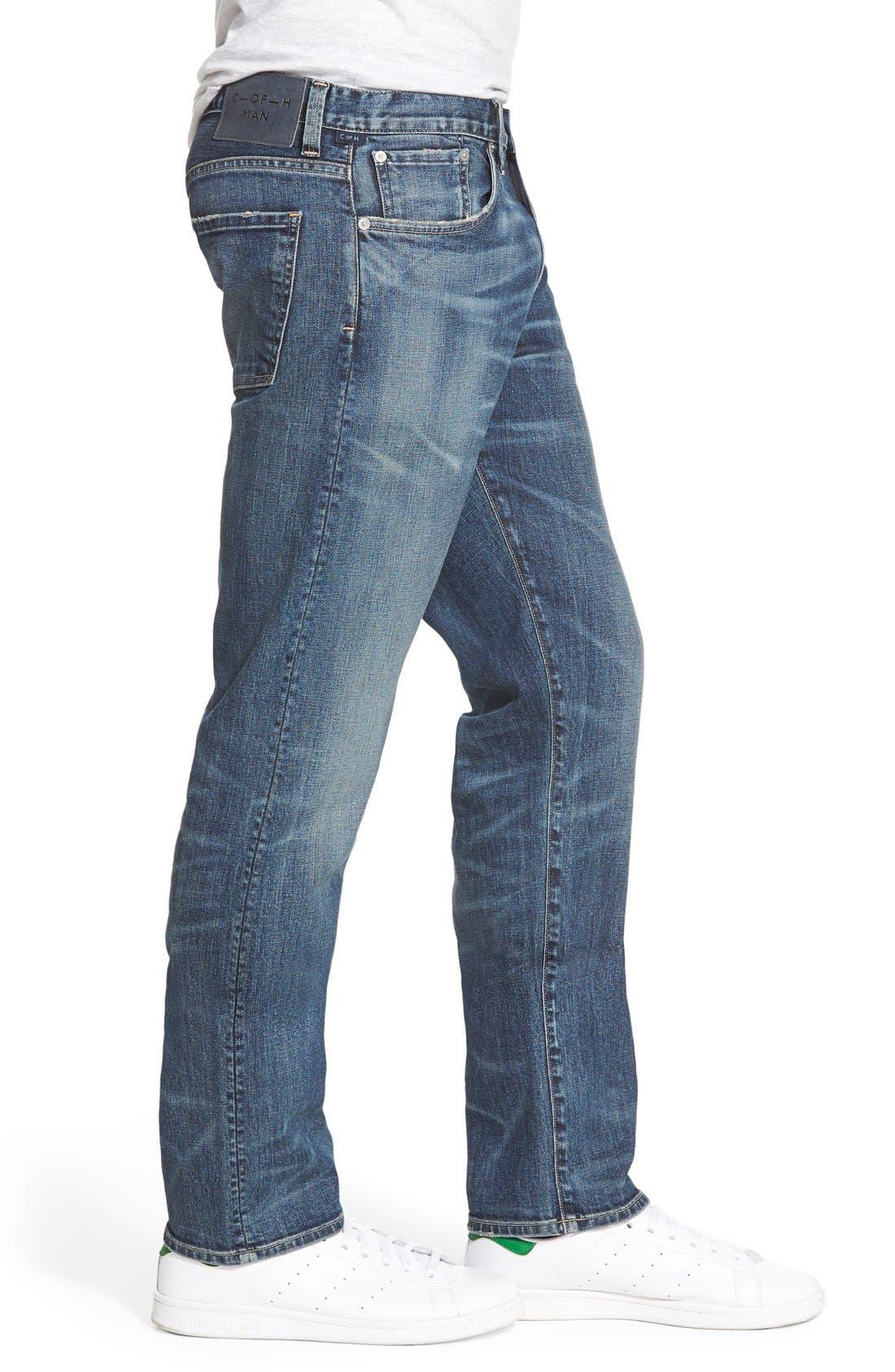 'Core' Slim Straight Leg Jeans,                             Alternate thumbnail 5, color,