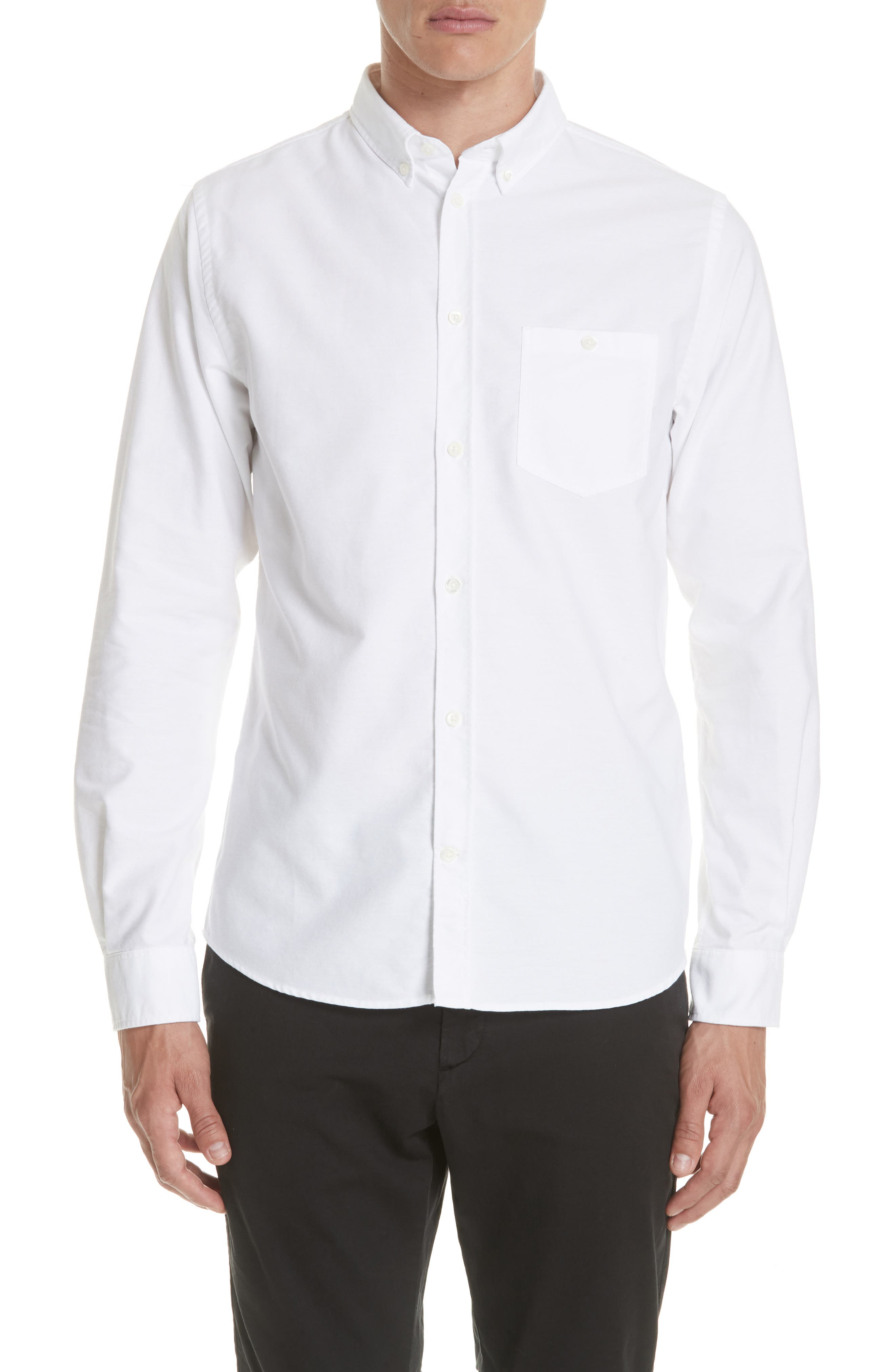 Anton Oxford Sport Shirt,                         Main,                         color, WHITE