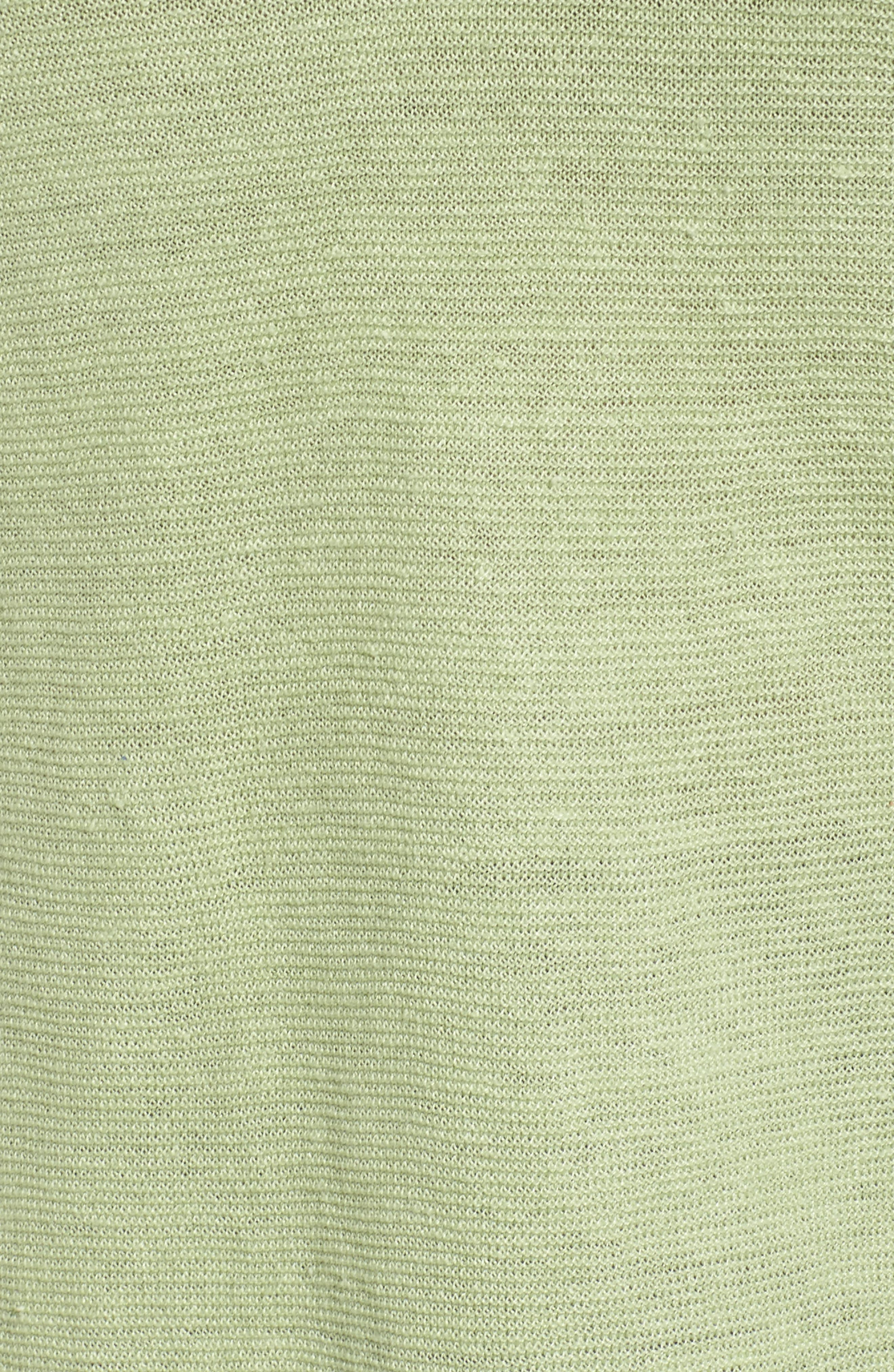 V-Neck Organic Linen Top,                             Alternate thumbnail 28, color,