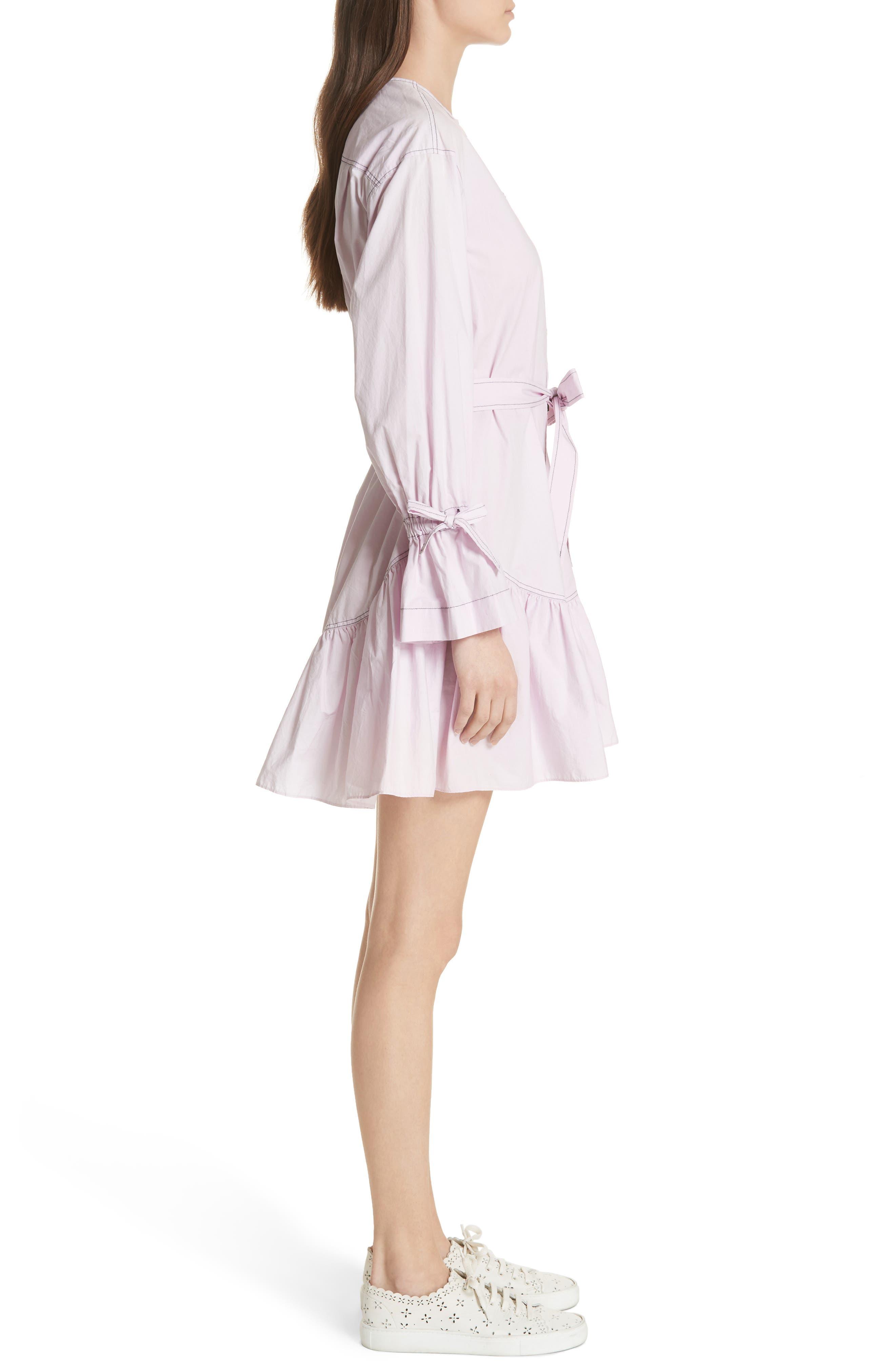 Ruffled Poplin Shirtdress,                             Alternate thumbnail 3, color,                             561