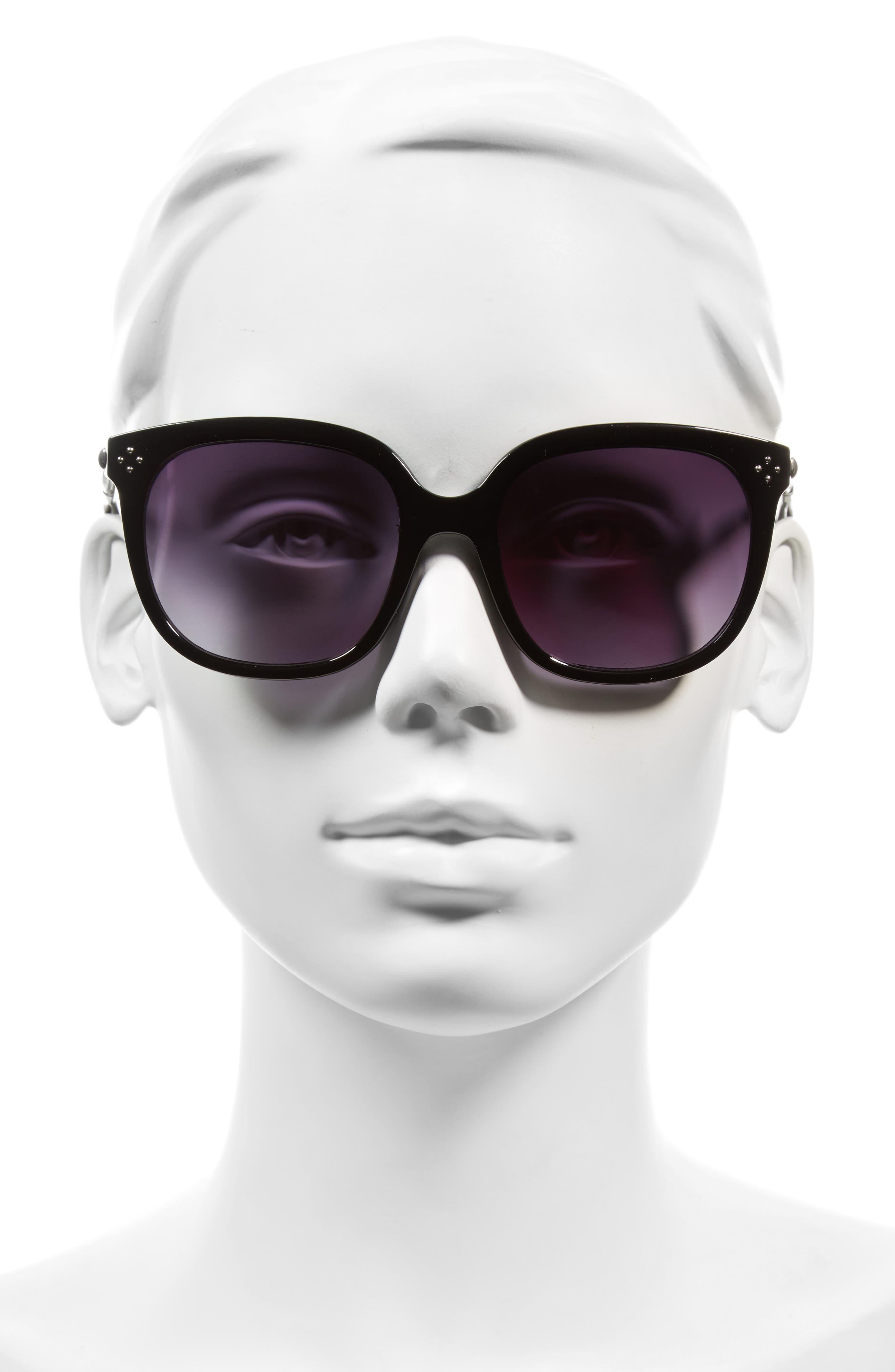 Dowager 52mm Sunglasses,                             Alternate thumbnail 2, color,                             001