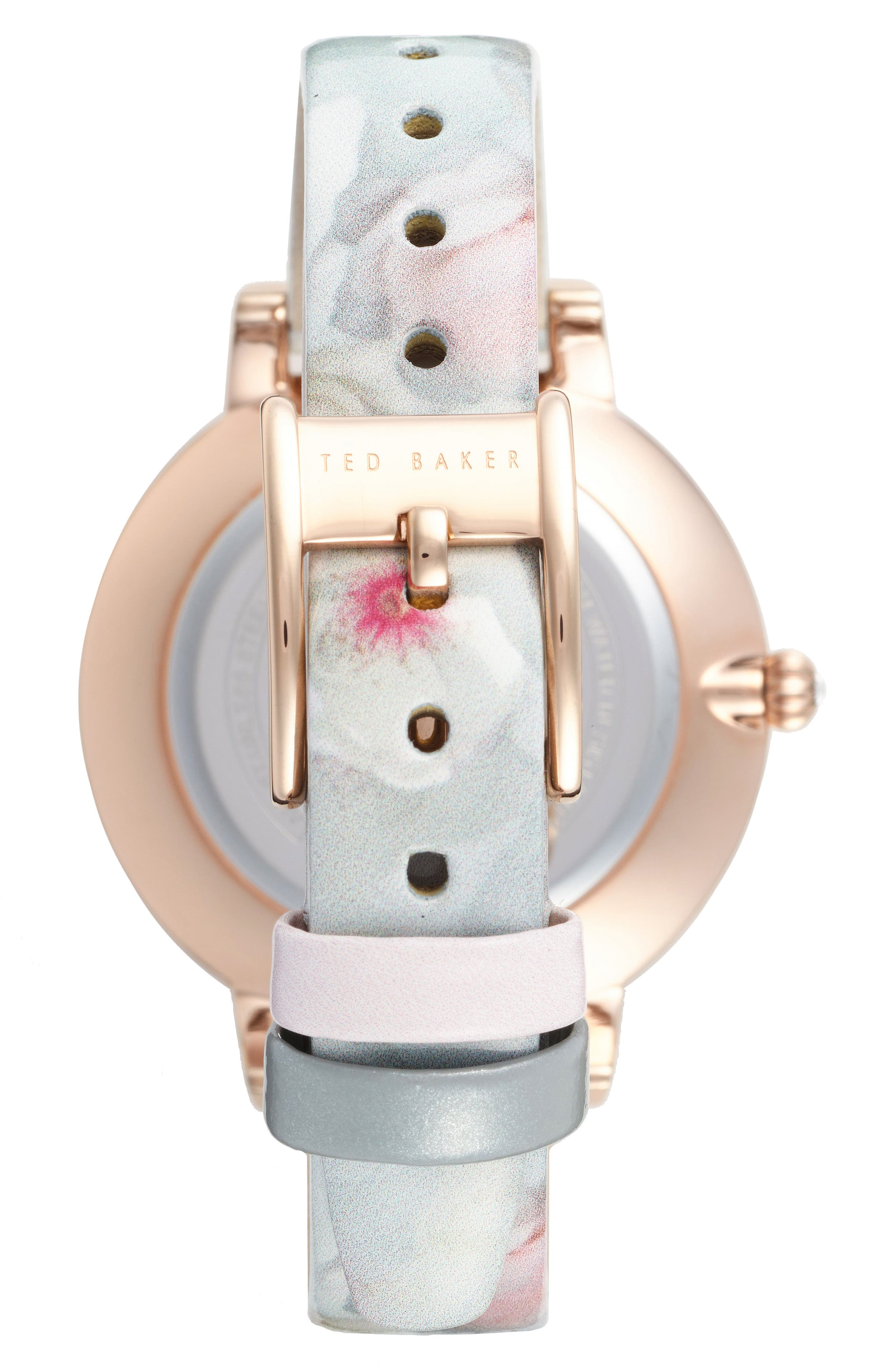 Kate Print Leather Strap Watch, 38mm,                             Alternate thumbnail 9, color,