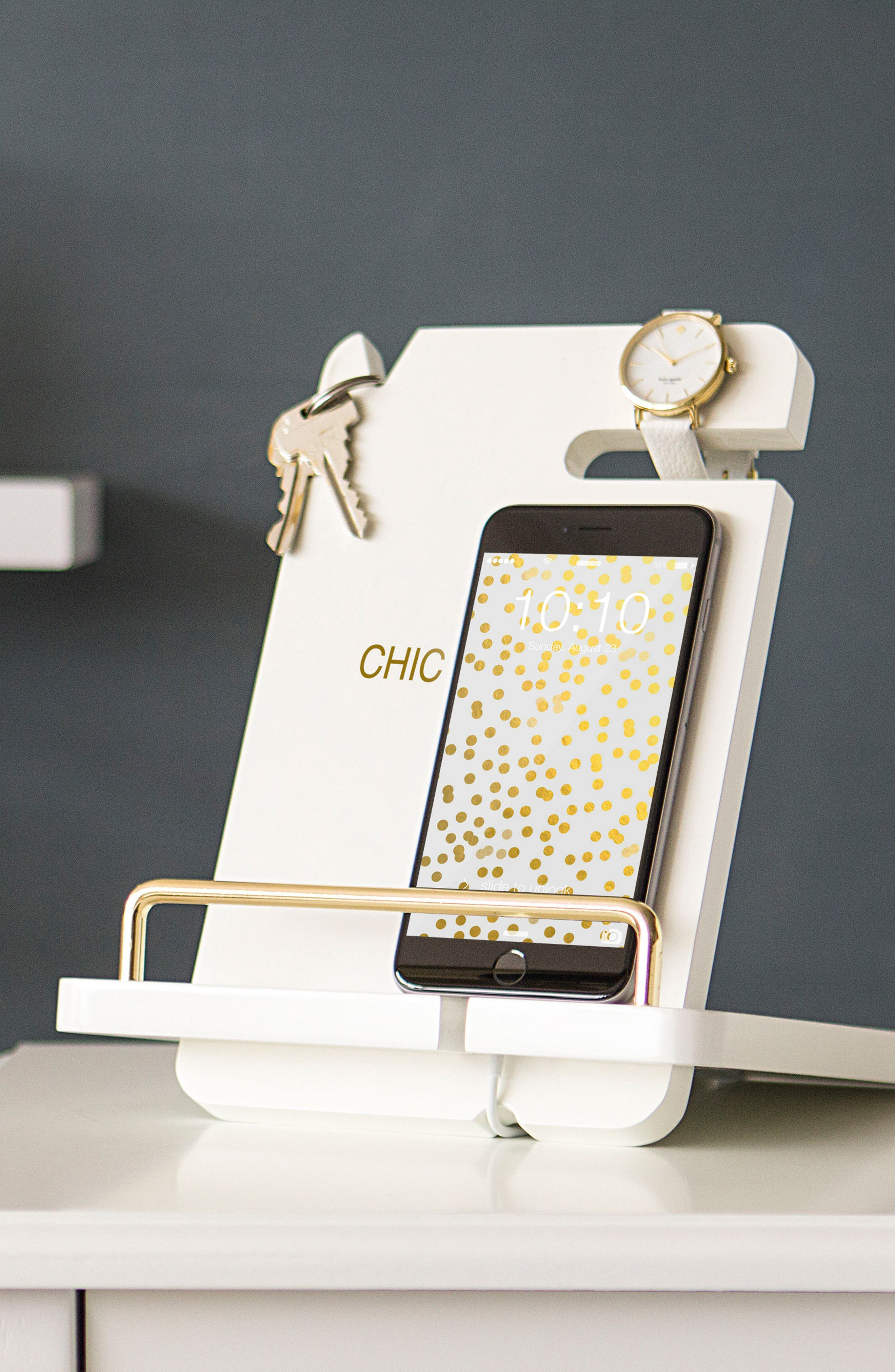 Lacquer Docking Station,                             Alternate thumbnail 9, color,                             GOLD