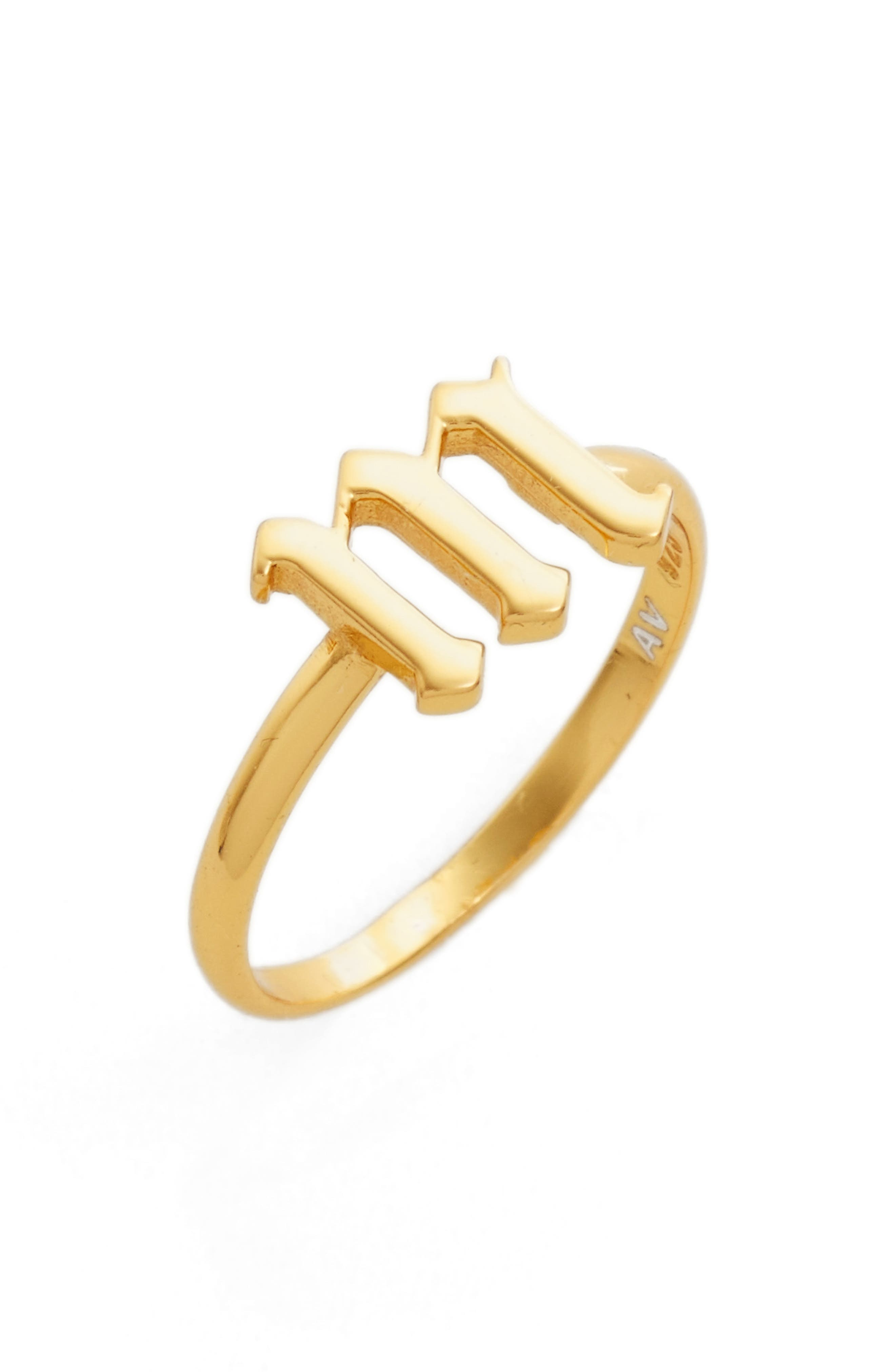 Gothic Initial Ring,                             Main thumbnail 24, color,