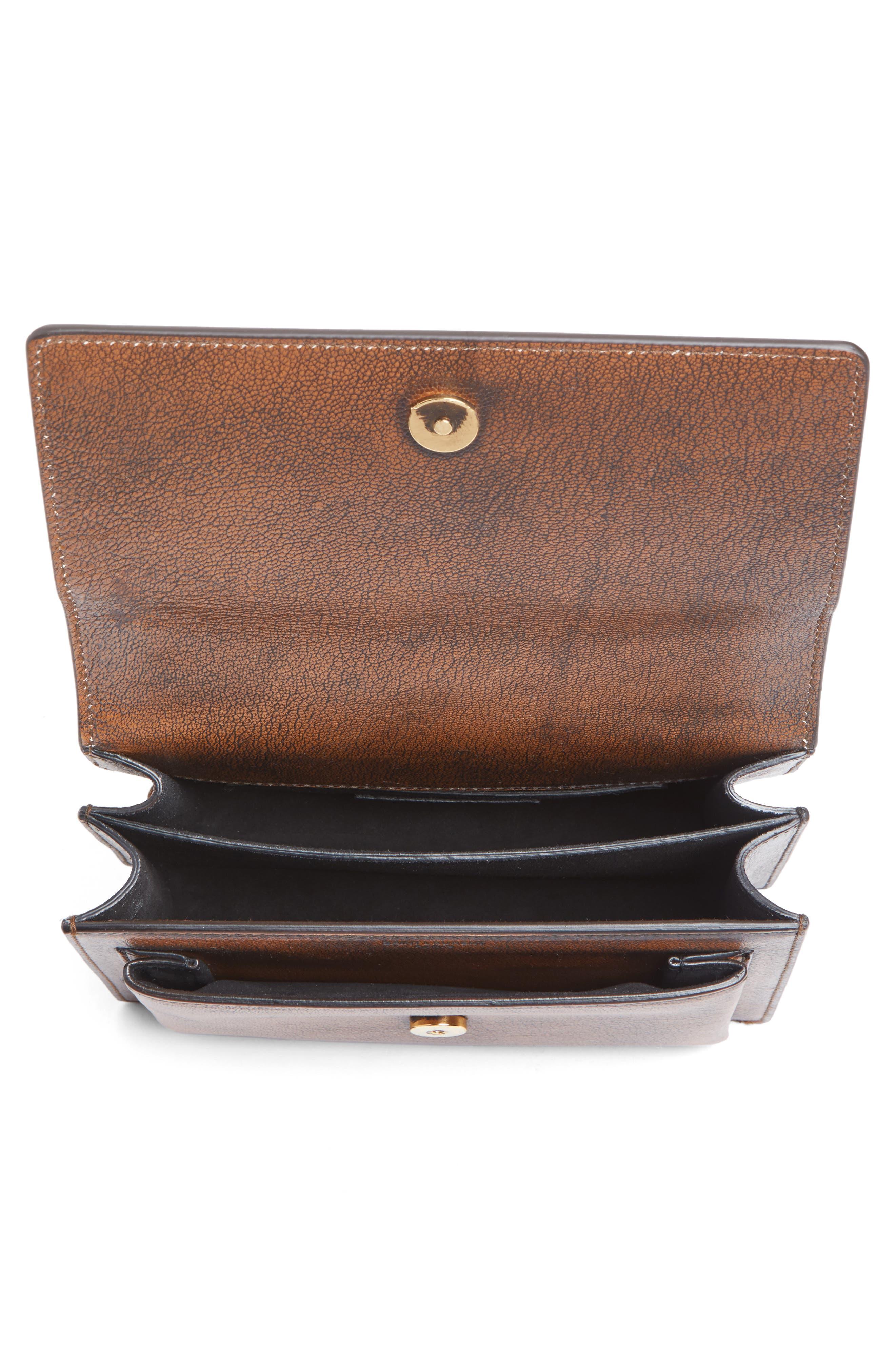 Small Sunset Studded Vintage Leather Shoulder Bag,                             Alternate thumbnail 4, color,                             979