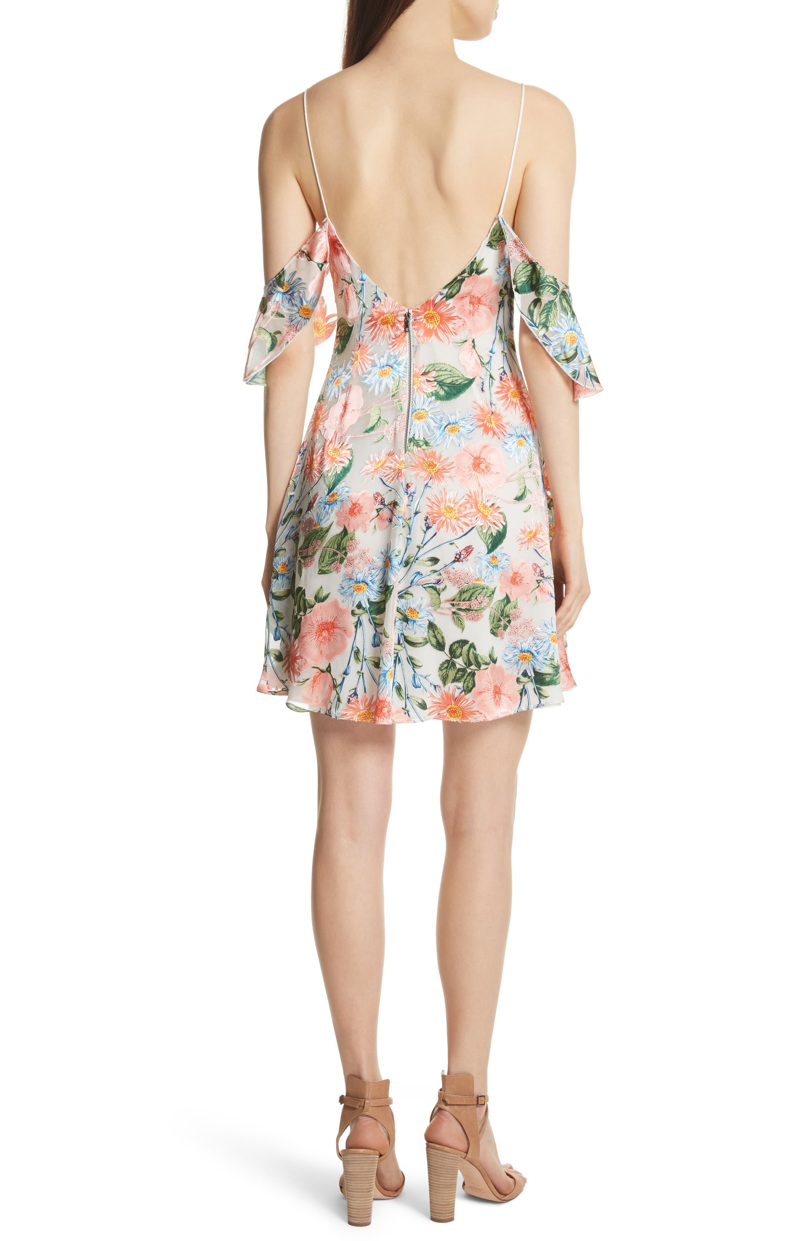 Alves Floral Cold Shoulder Dress,                             Alternate thumbnail 2, color,