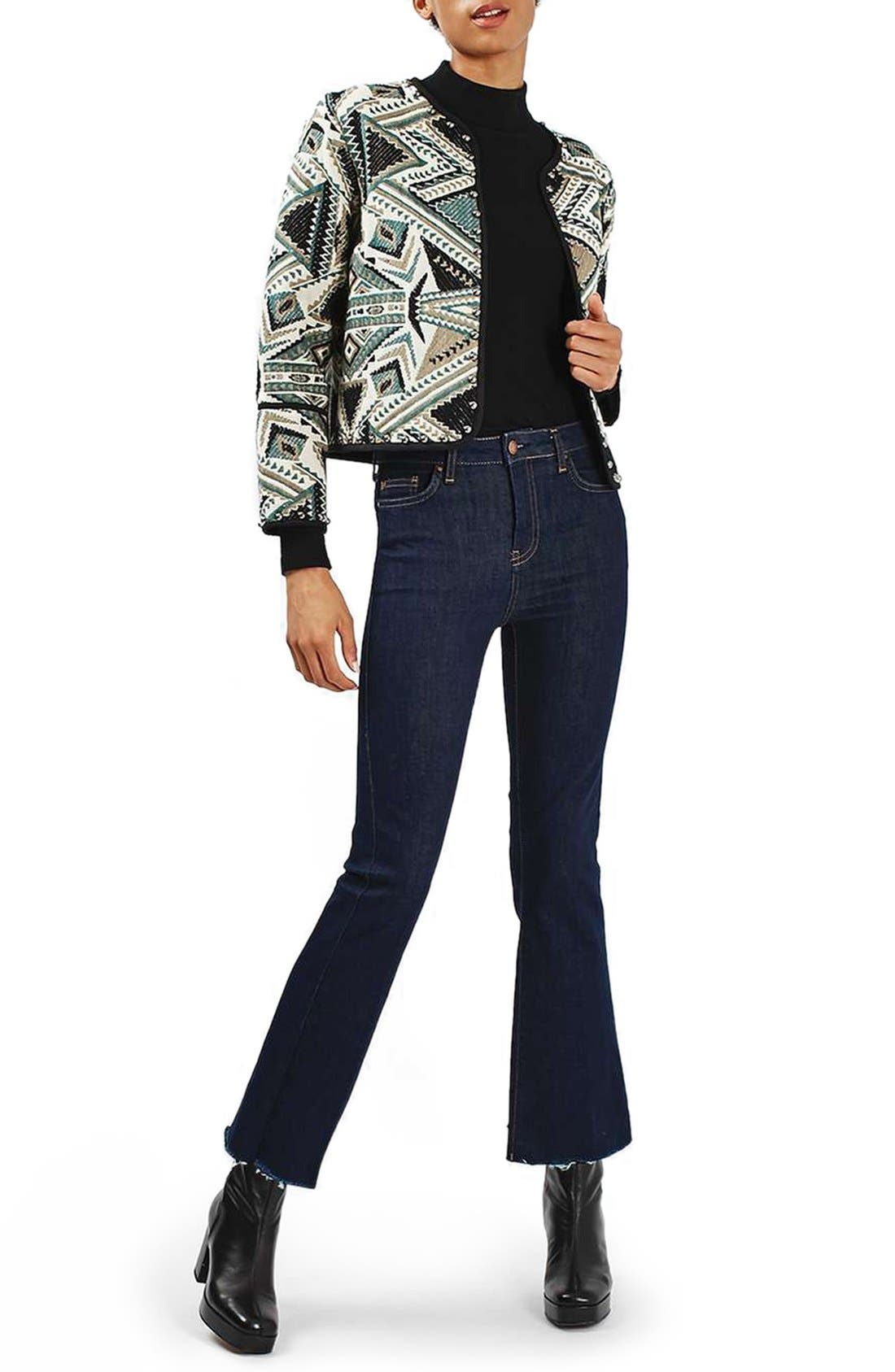 Studded Embroidered Jacket,                             Alternate thumbnail 5, color,                             020