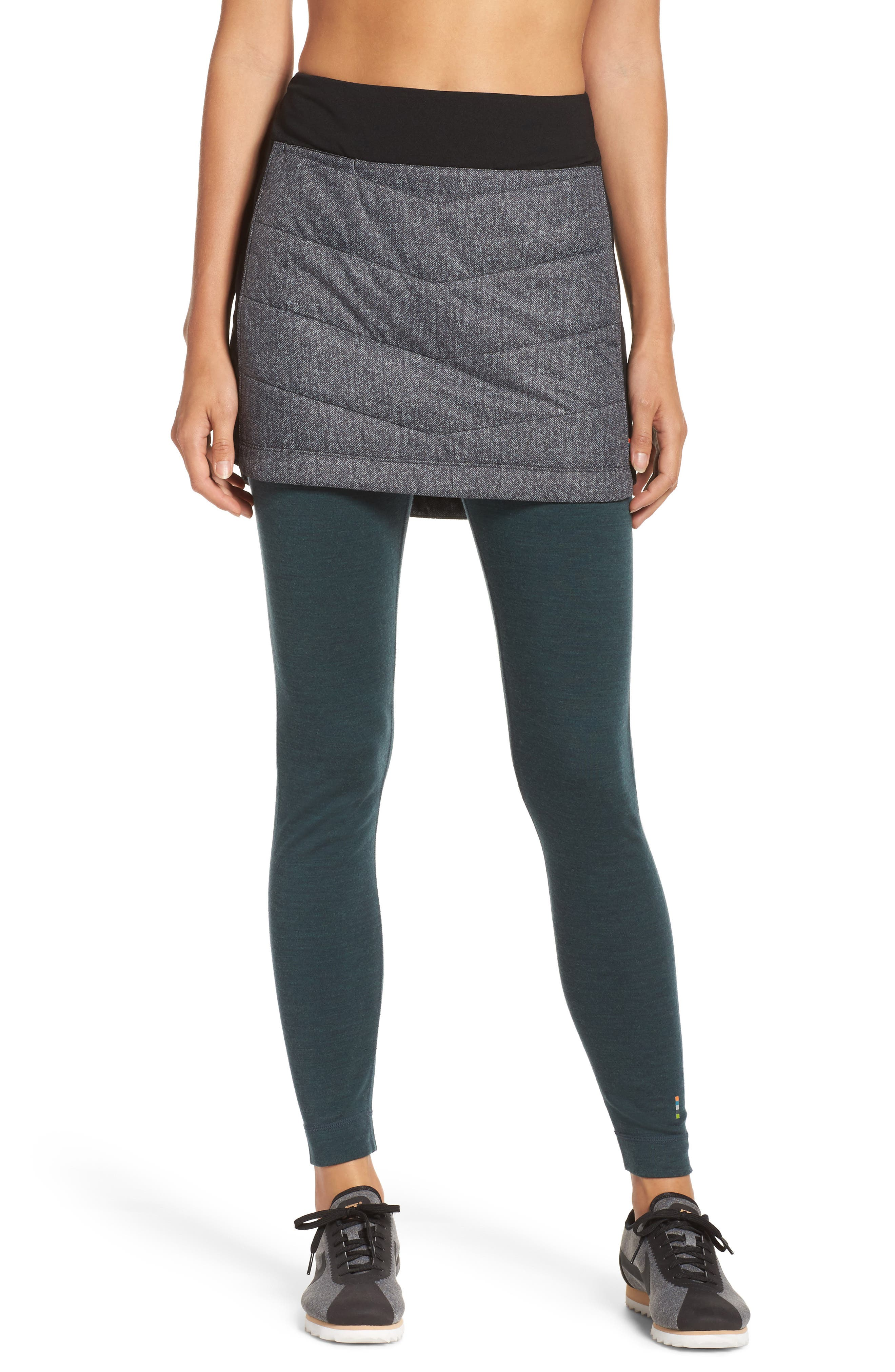 Propulsion 60 Quilted Skirt,                             Alternate thumbnail 4, color,                             001