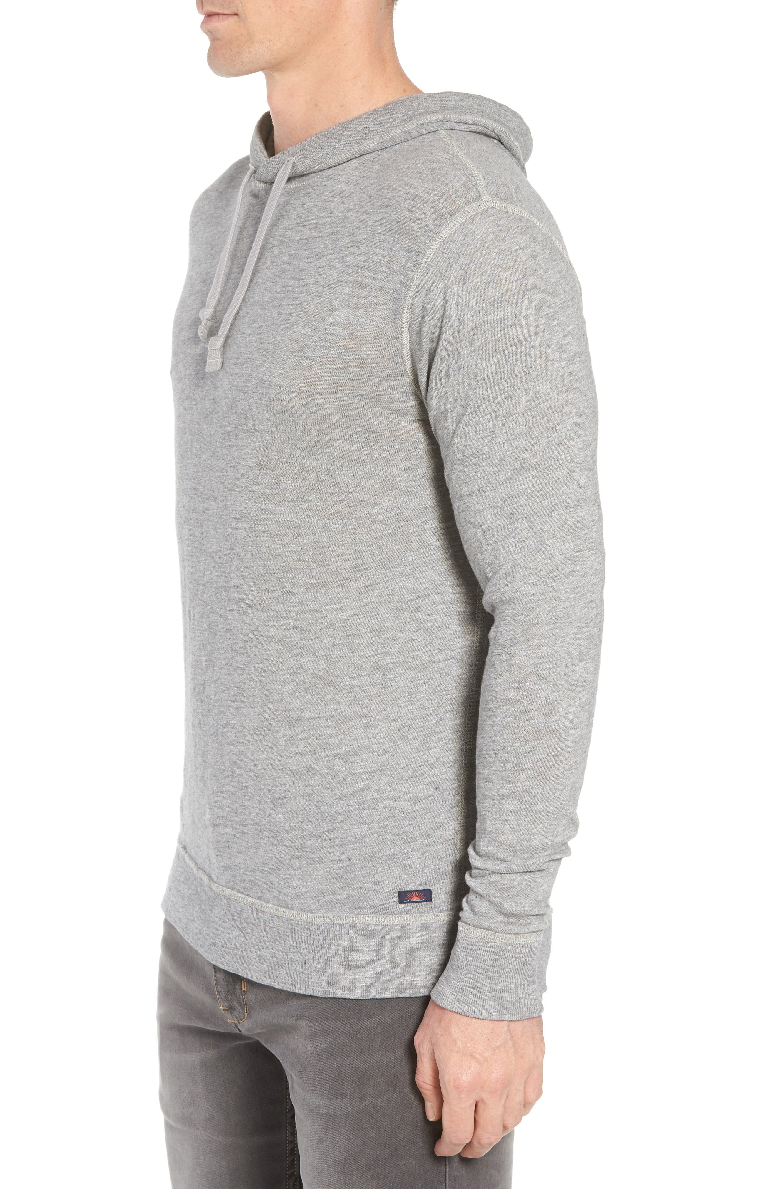 Slub Cotton Hoodie,                             Alternate thumbnail 3, color,                             HEATHER GREY