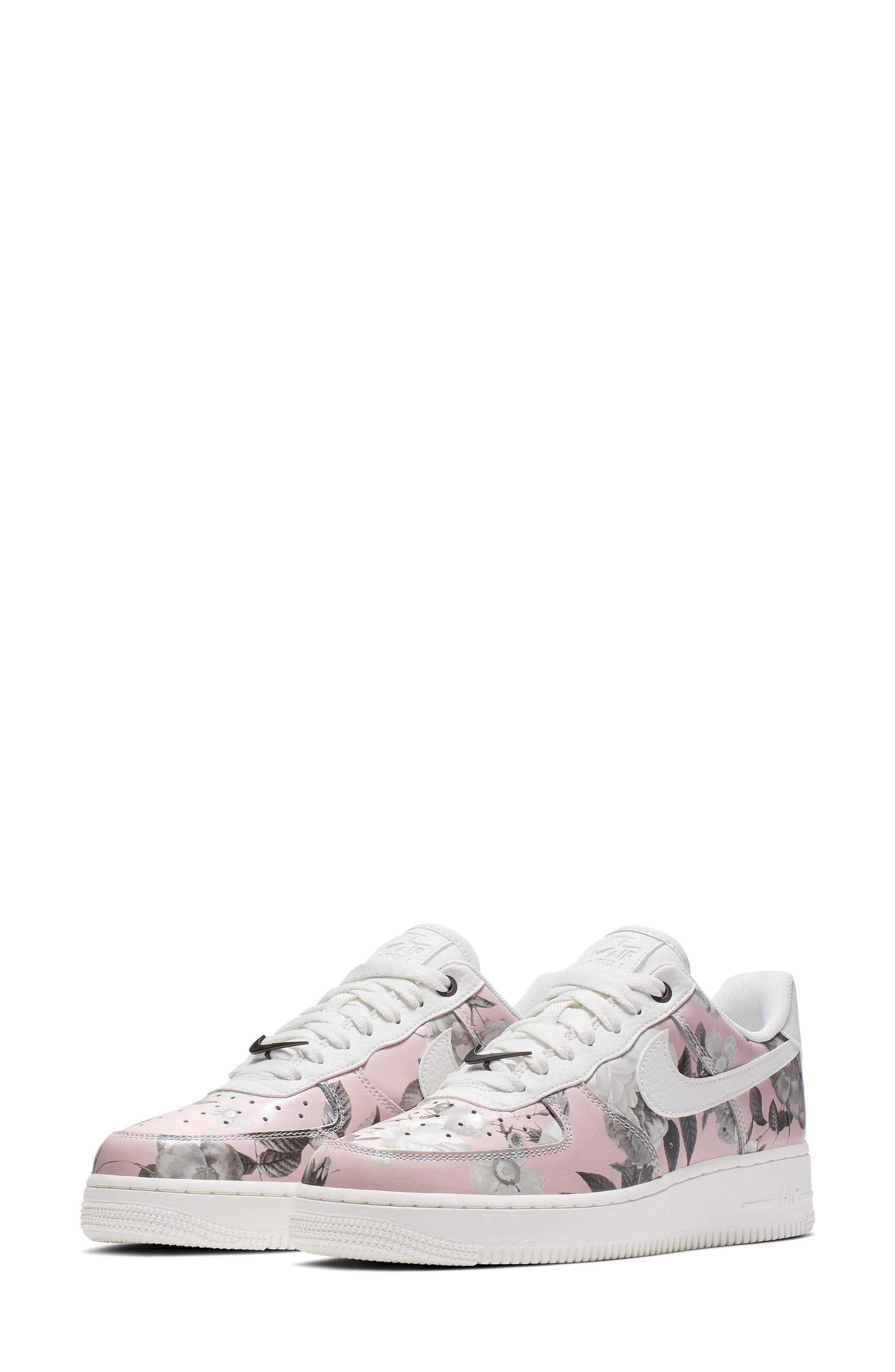 NIKE Air Force 1 '07 LXX Sneaker, Main, color, WHITE/ WHITE/ WHITE/ BLACK