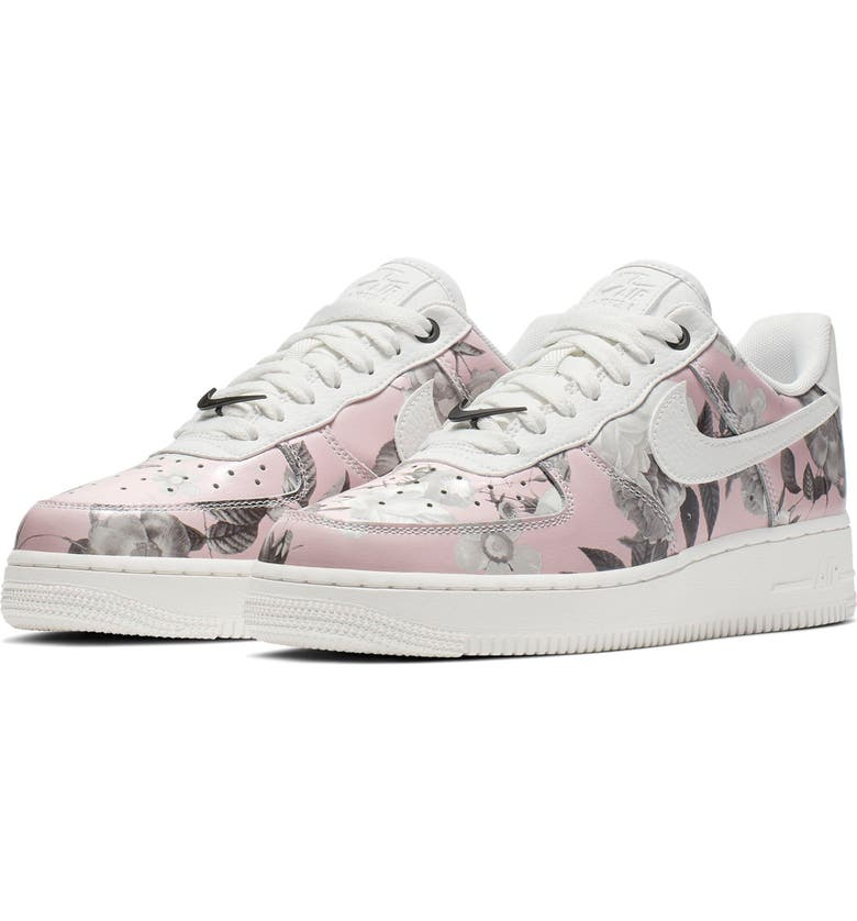 NIKE Air Force 1 '07 LXX Sneaker, Main, color, WHITE/ WHITE/ WHITE/ BLACK