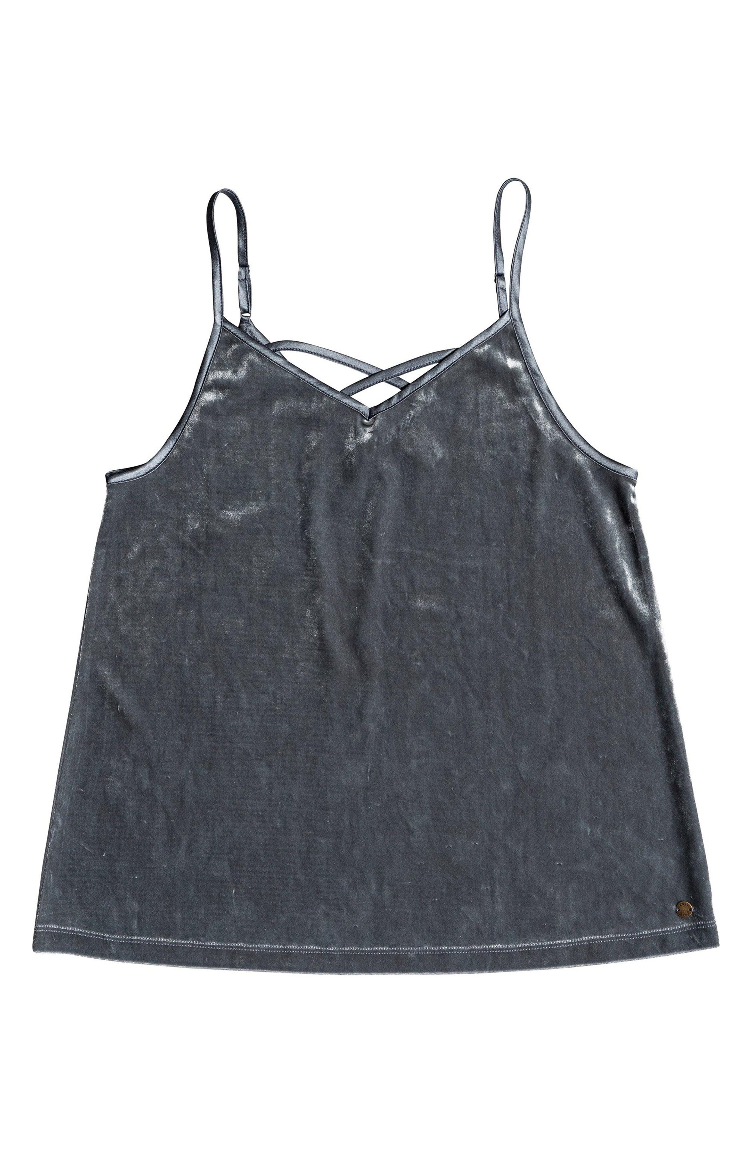 ROXY,                             You Are Pretty Velvet Camisole,                             Alternate thumbnail 4, color,                             TURBULENCE