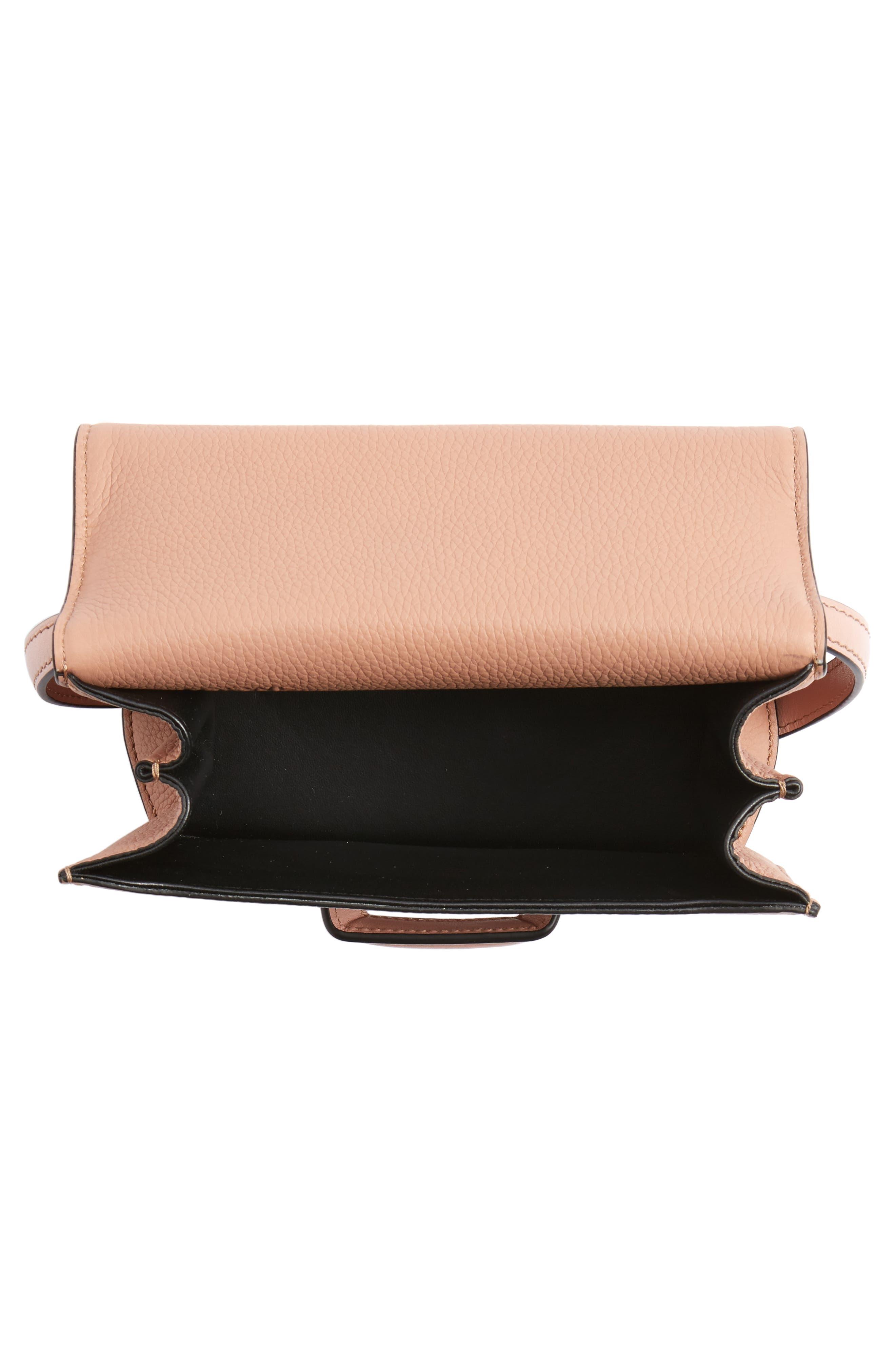 Small Barcelona Grainy Leather Crossbody Bag,                             Alternate thumbnail 4, color,                             BLUSH