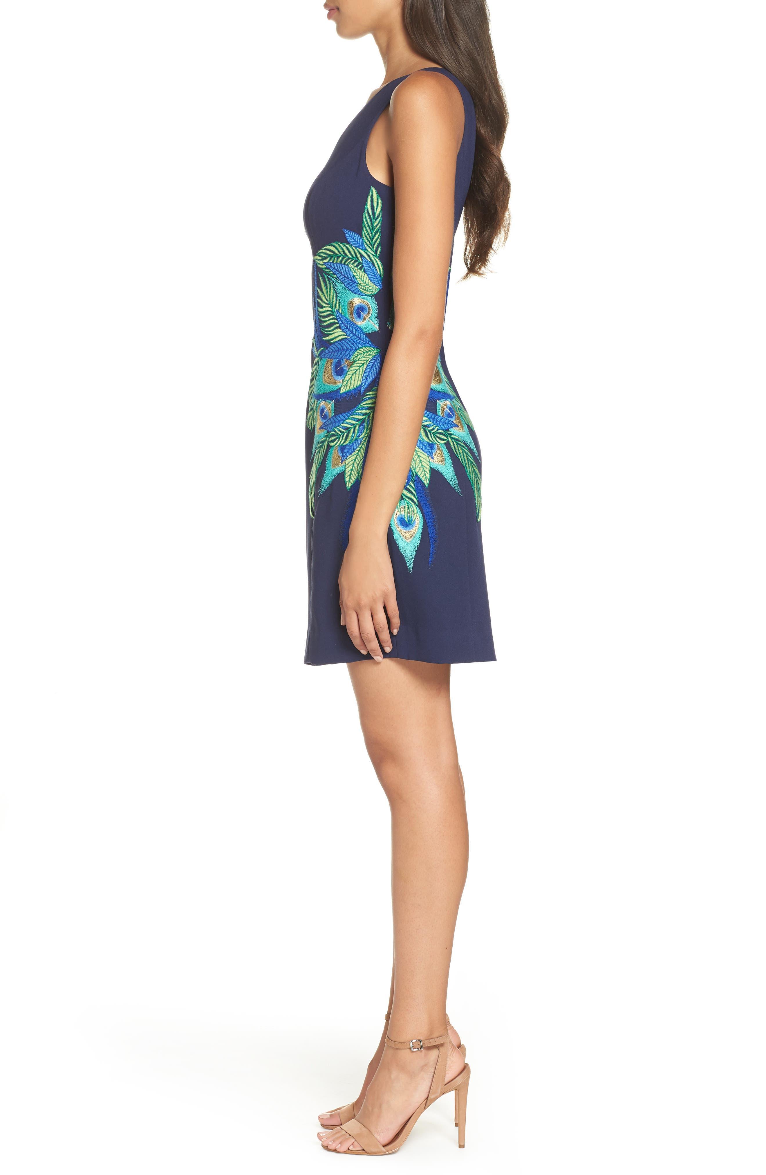 Lily Pulitzer<sup>®</sup> Jamie One-Shoulder Dress,                             Alternate thumbnail 3, color,                             TRUE NAVY