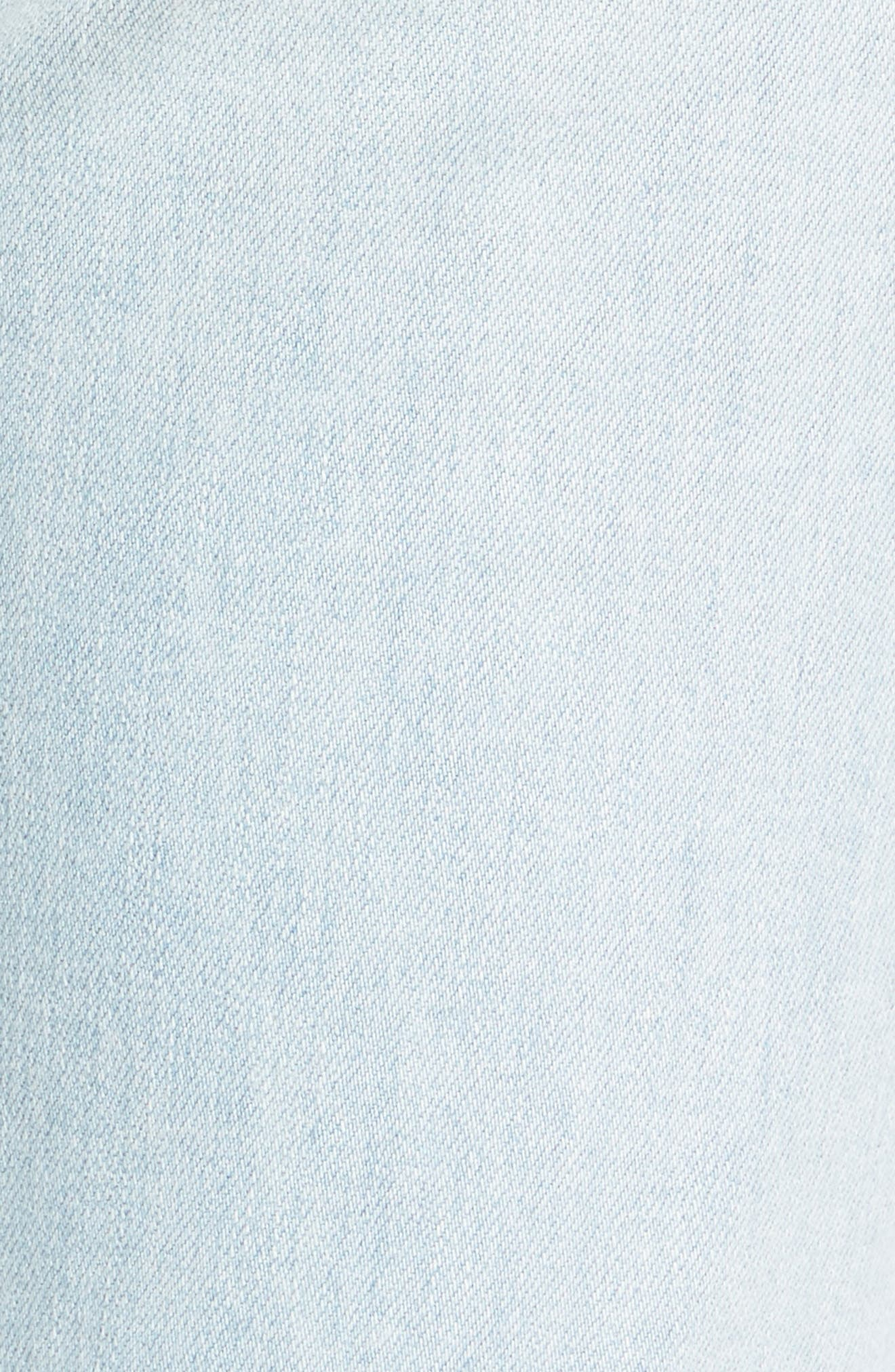 High Waist Crop Slim Jeans,                             Alternate thumbnail 5, color,
