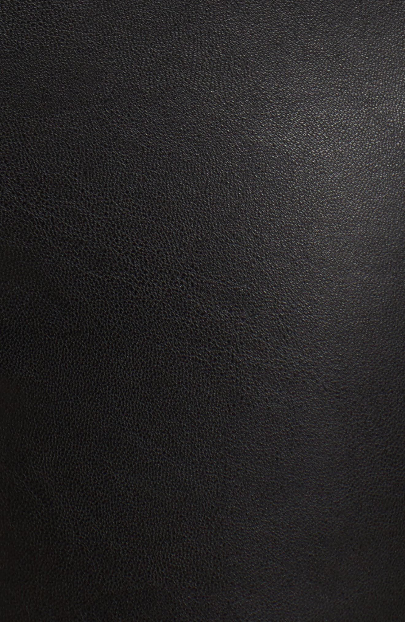 Leatherette Leggings,                             Alternate thumbnail 5, color,                             001