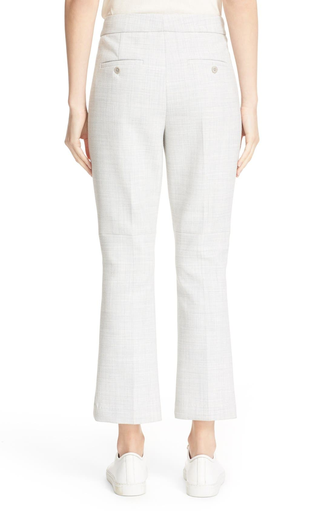 THEORY,                             'Erstina Pioneer' Crop Flare Leg Trousers,                             Alternate thumbnail 4, color,                             050