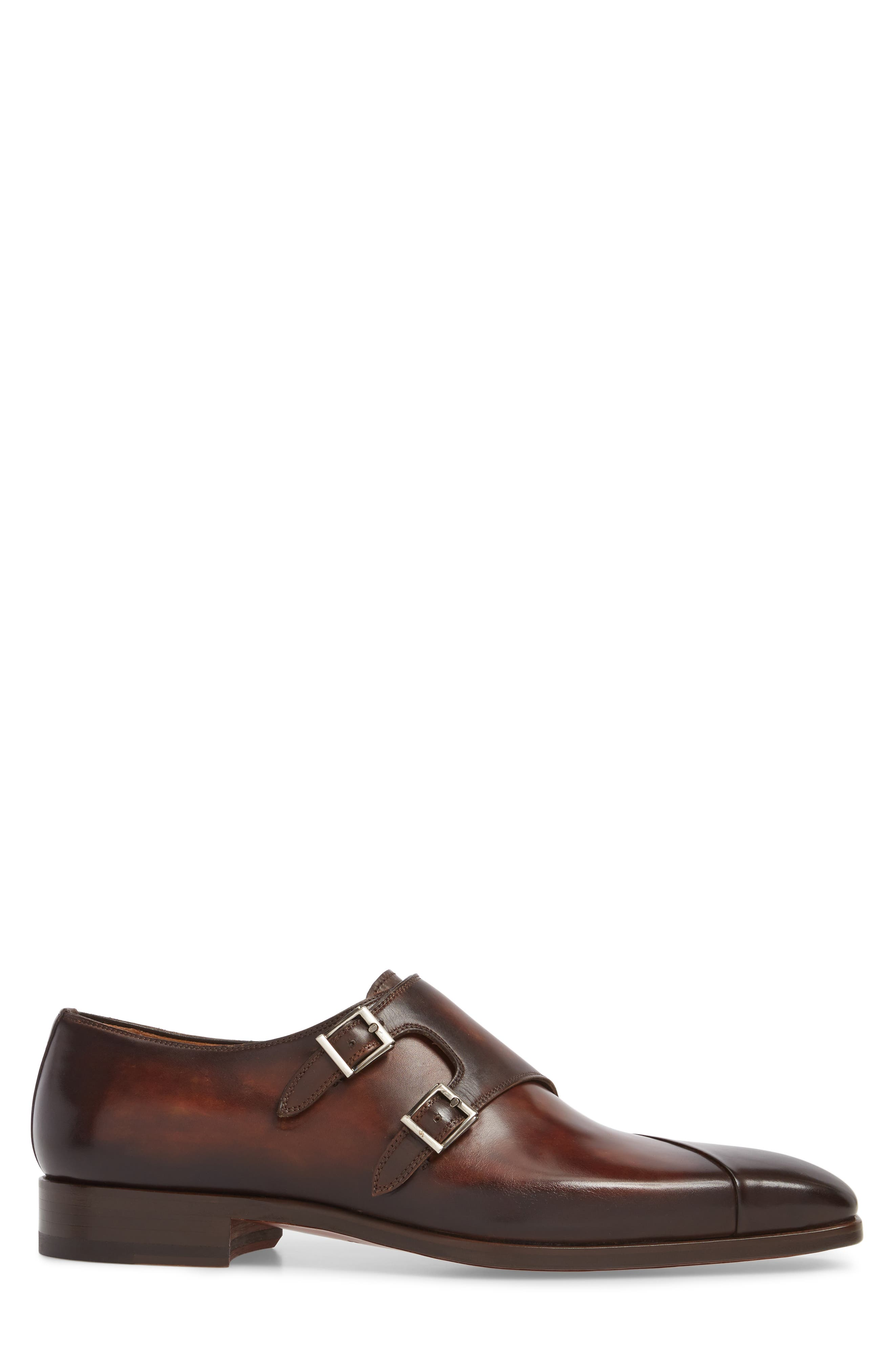 Hafiz Double Strap Monk Shoe,                             Alternate thumbnail 3, color,                             TABACO LEATHER