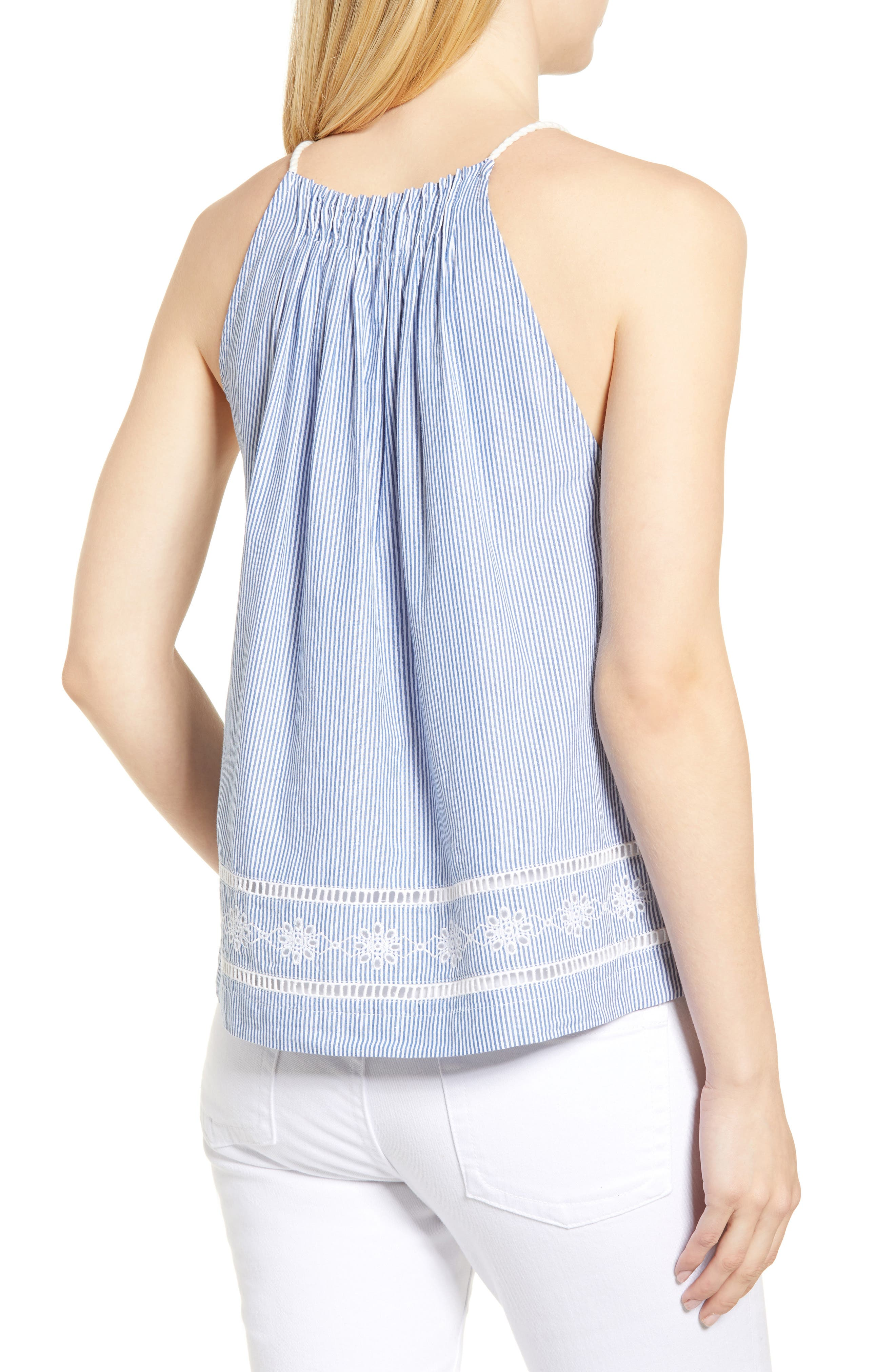Sandbar Stripe Sleeveless Top,                             Alternate thumbnail 2, color,                             MOONSHINE