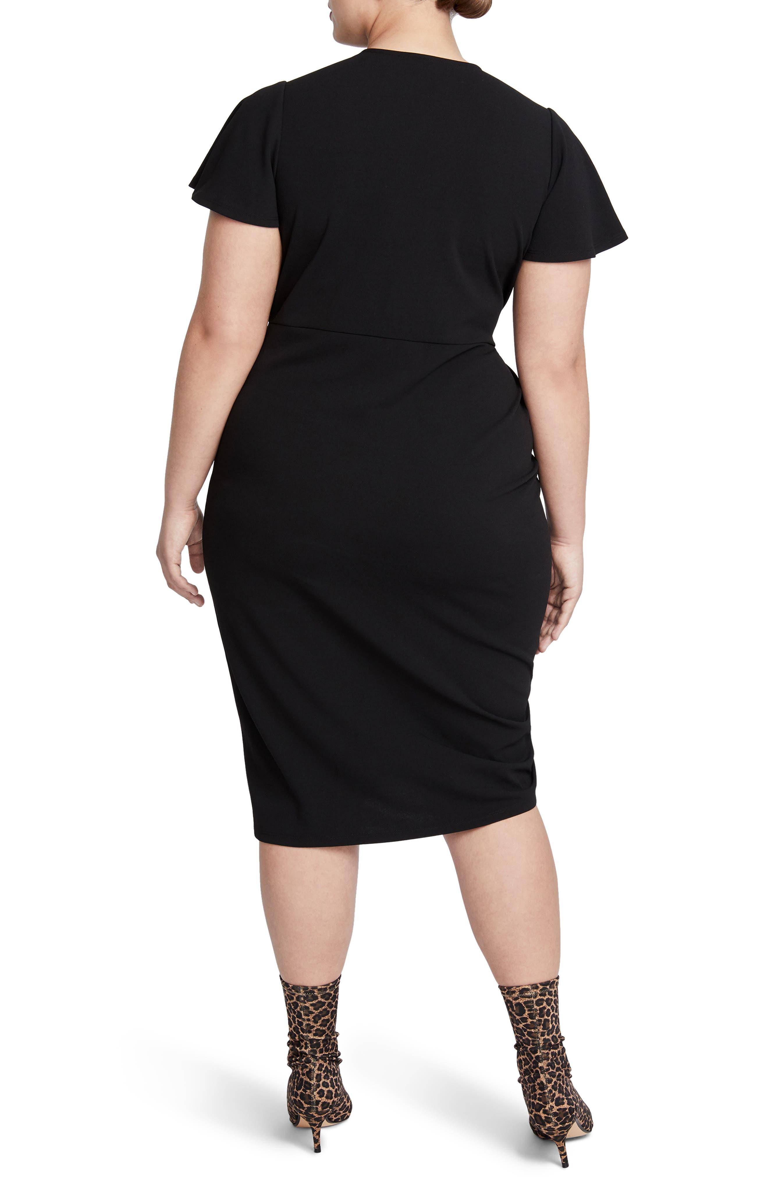Pippa Ruched Sheath Dress,                             Alternate thumbnail 2, color,                             001