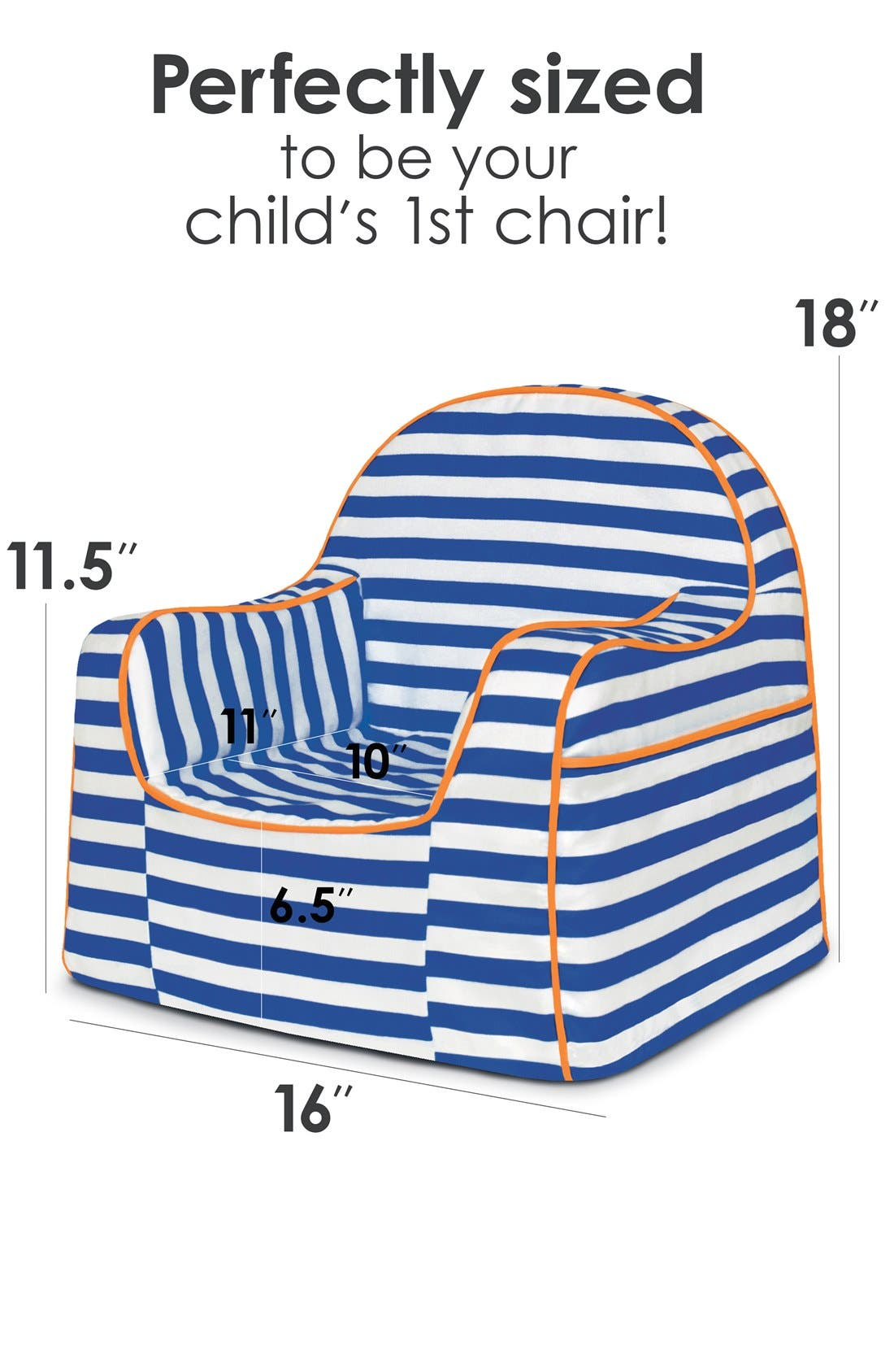 'Personalized Little Reader' Chair,                             Alternate thumbnail 4, color,                             405