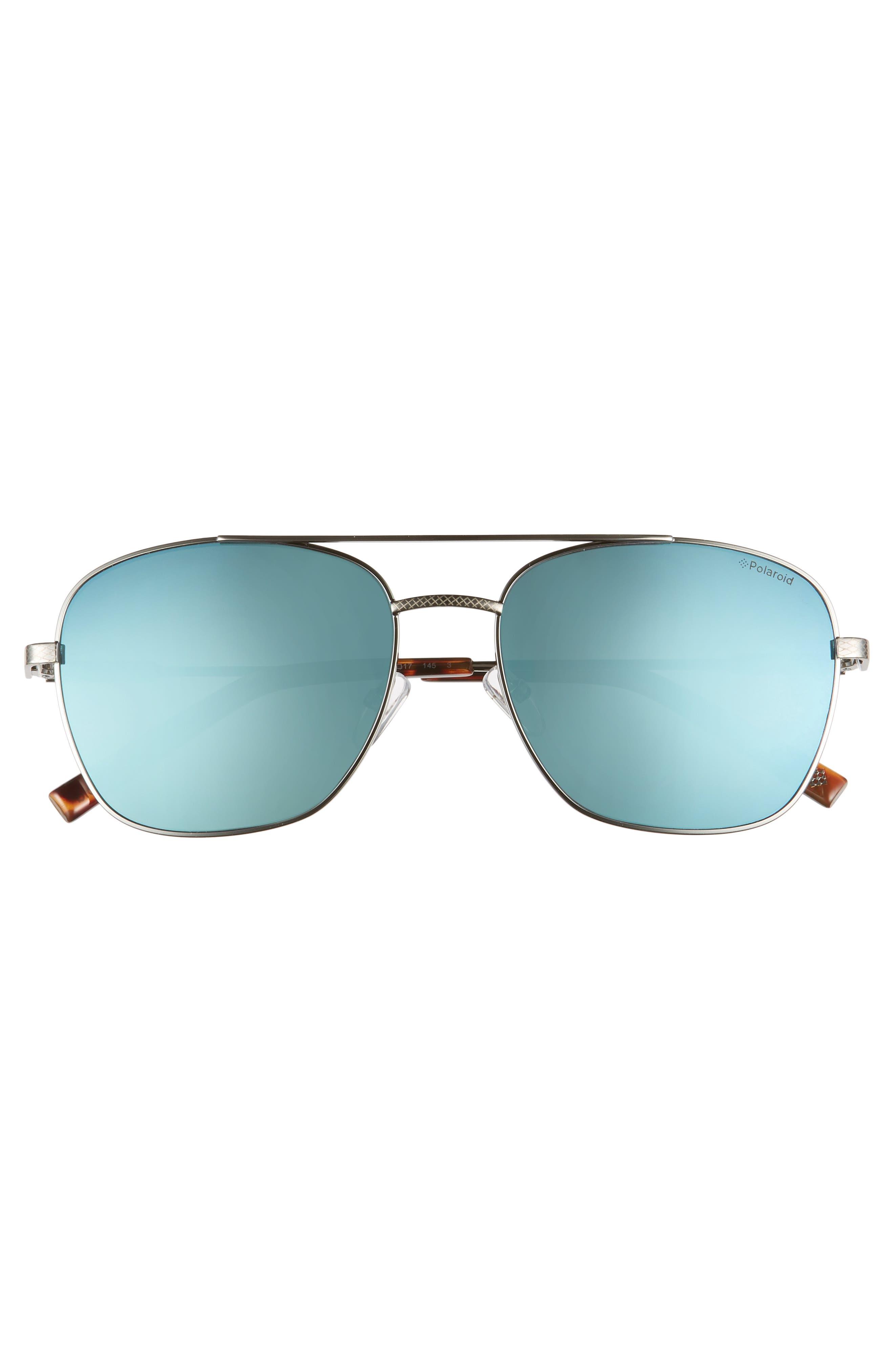 POLAROID,                             58mm Polarized Navigator Sunglasses,                             Alternate thumbnail 2, color,                             RUTHENIUM