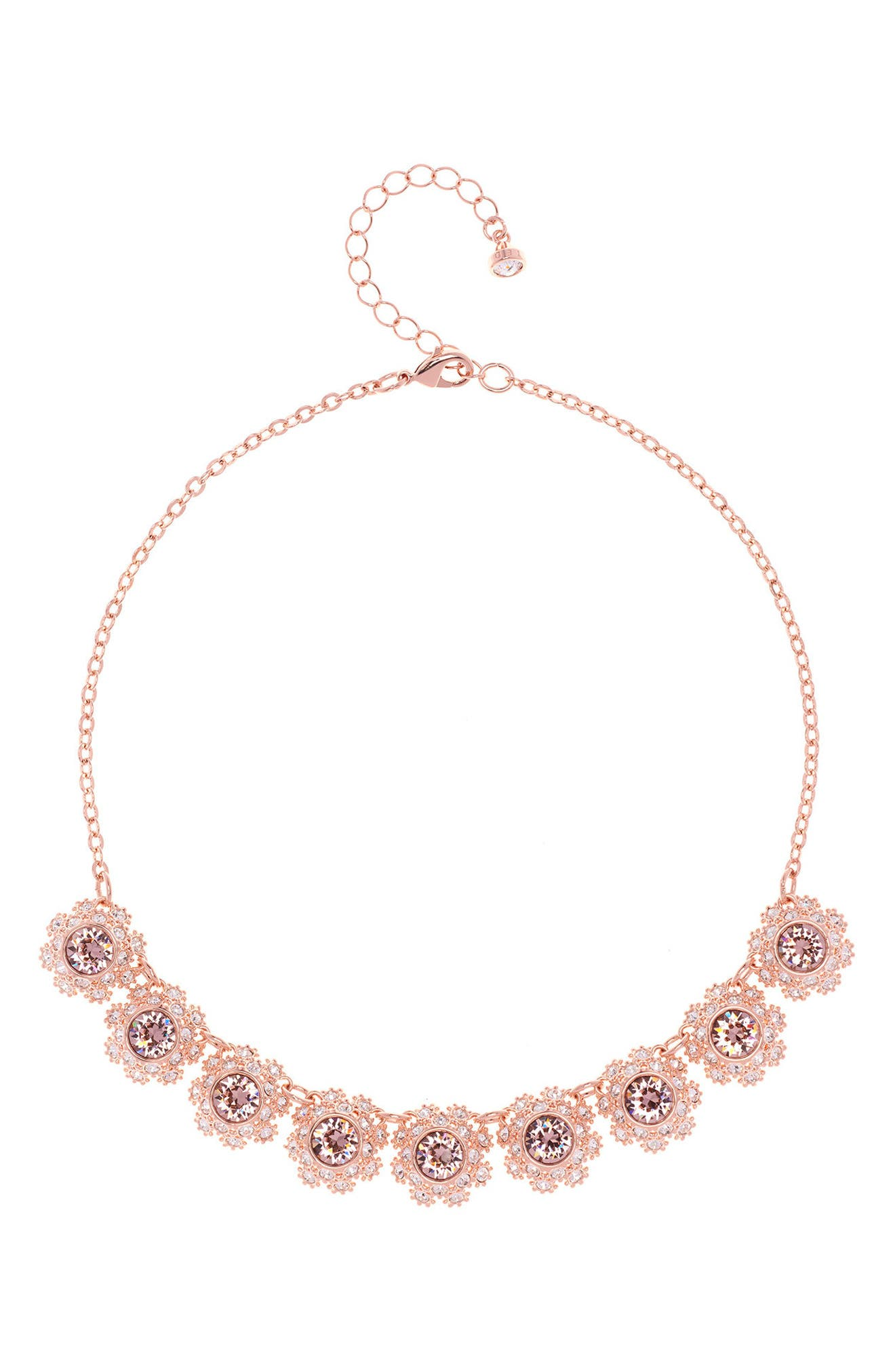Crystal Daisy Lace Collar Necklace,                             Main thumbnail 1, color,                             660