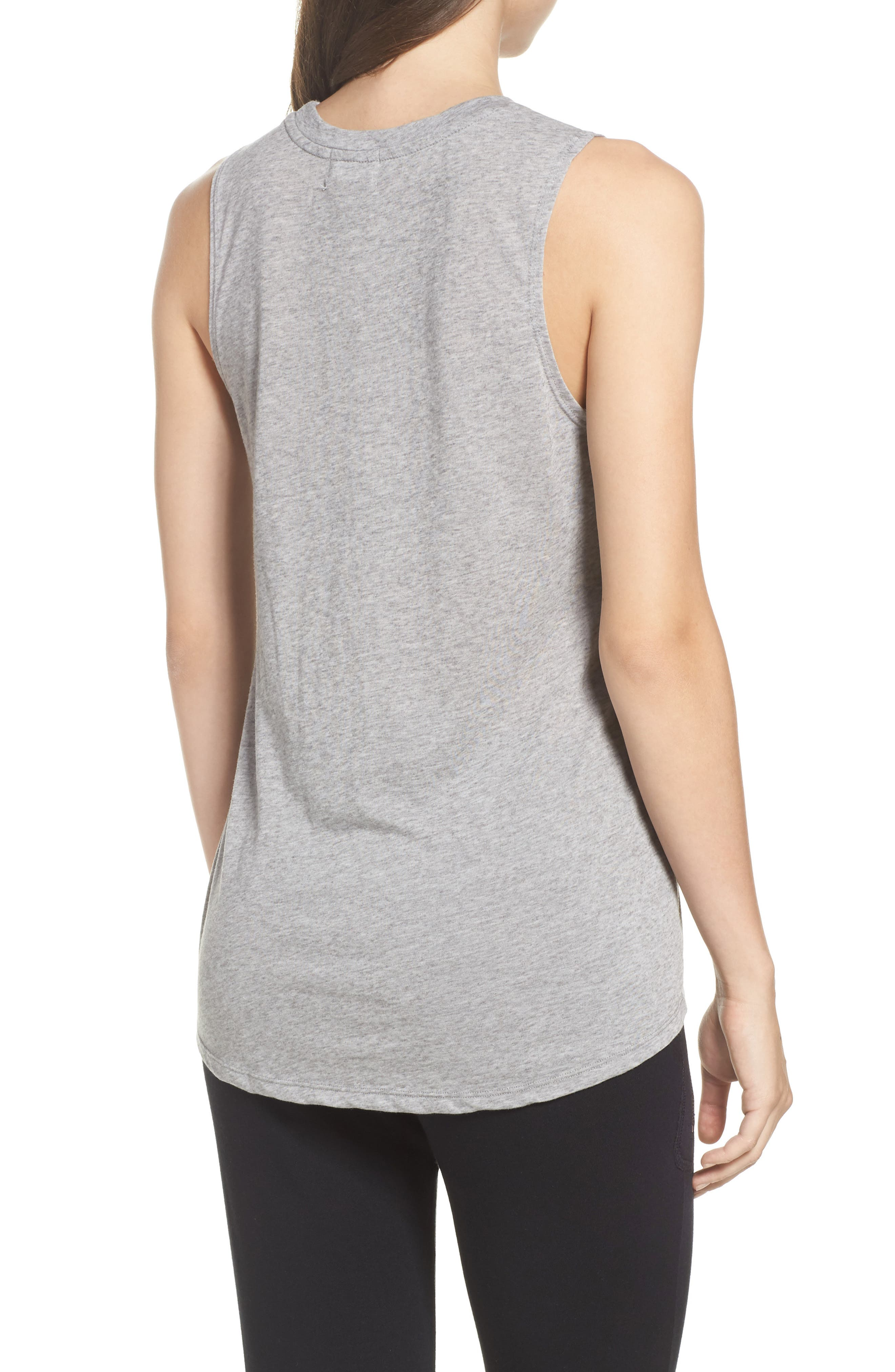 New York High/Low Muscle Tank,                             Alternate thumbnail 2, color,