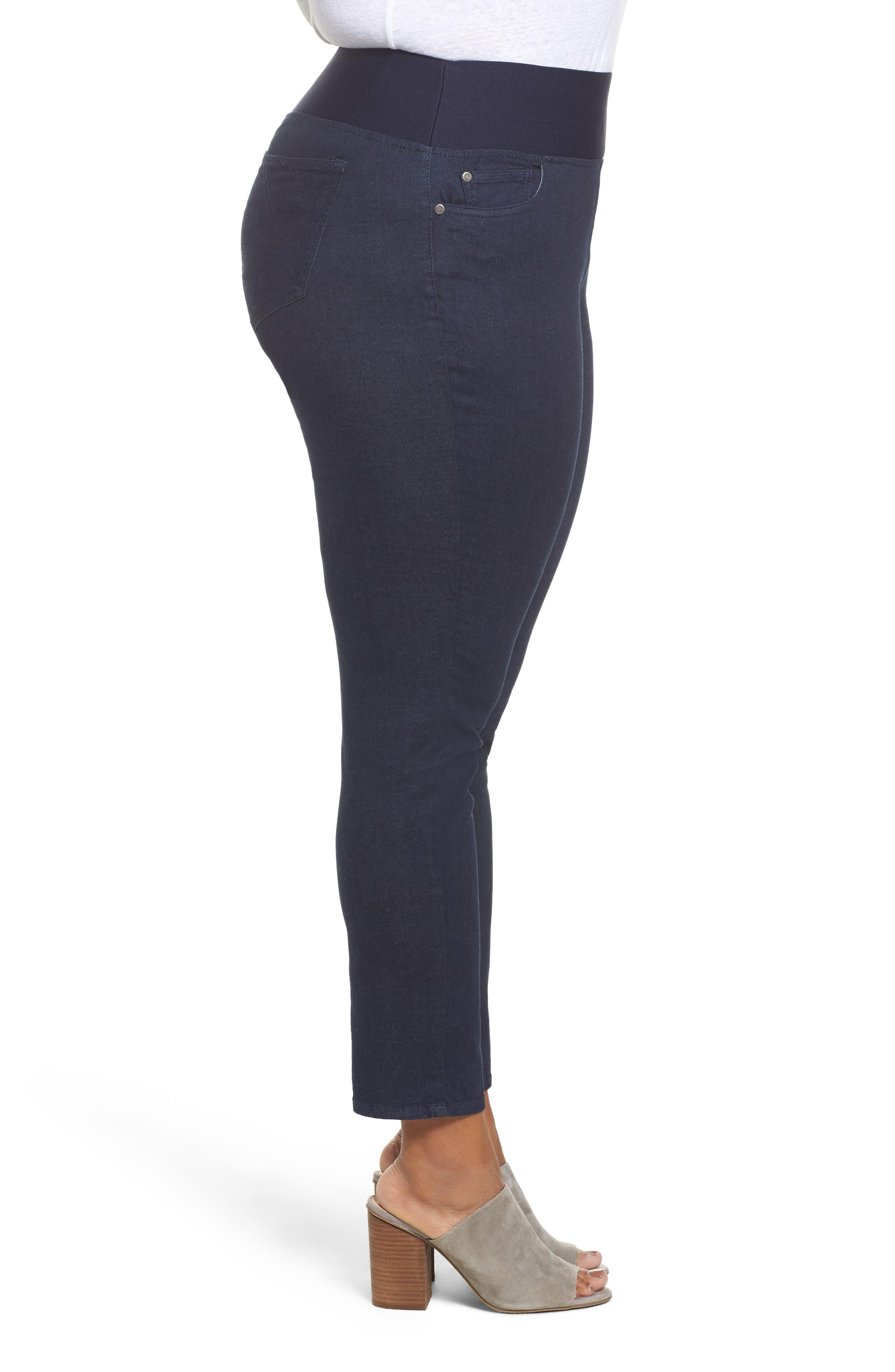 Nina High Rise Slimming Pants,                             Alternate thumbnail 3, color,                             INDIGO