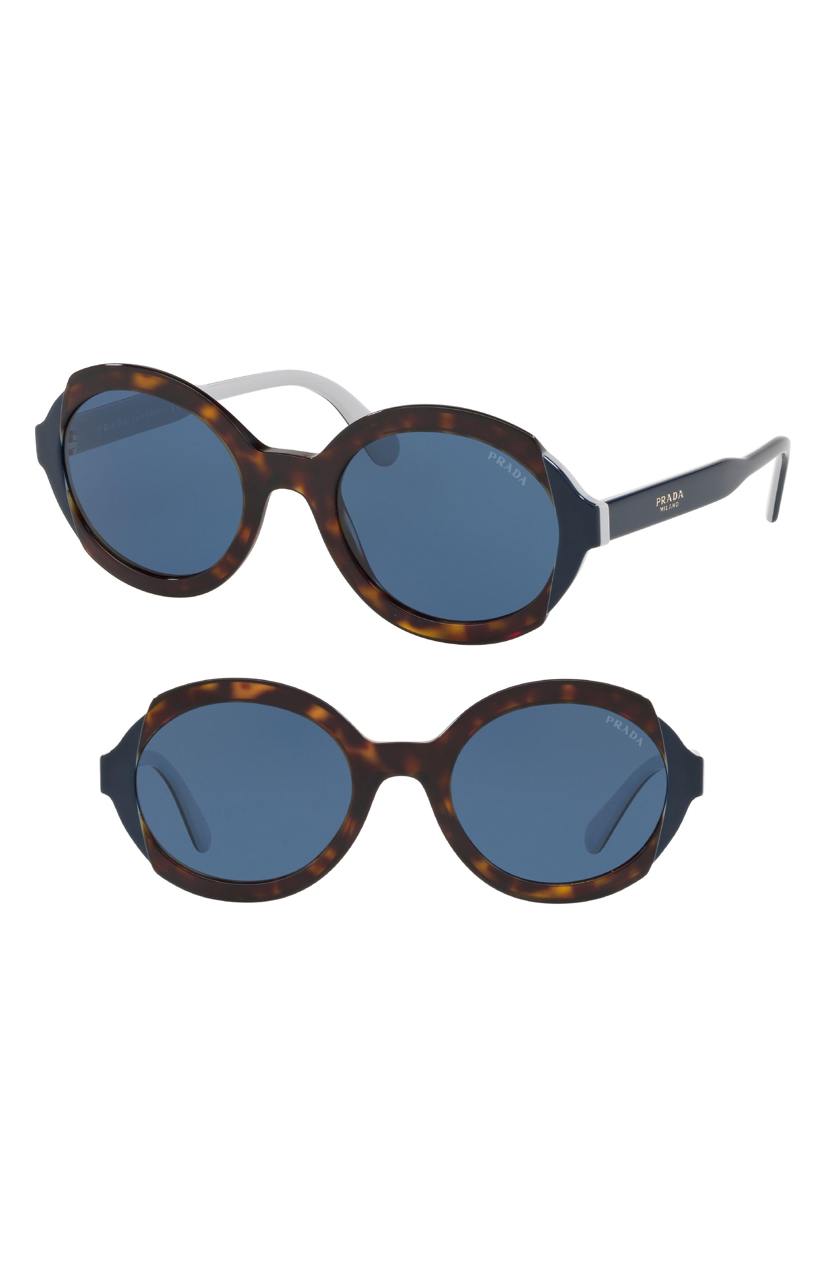 Etiquette 53mm Oval Sunglasses,                             Main thumbnail 1, color,                             HAVANA SOLID
