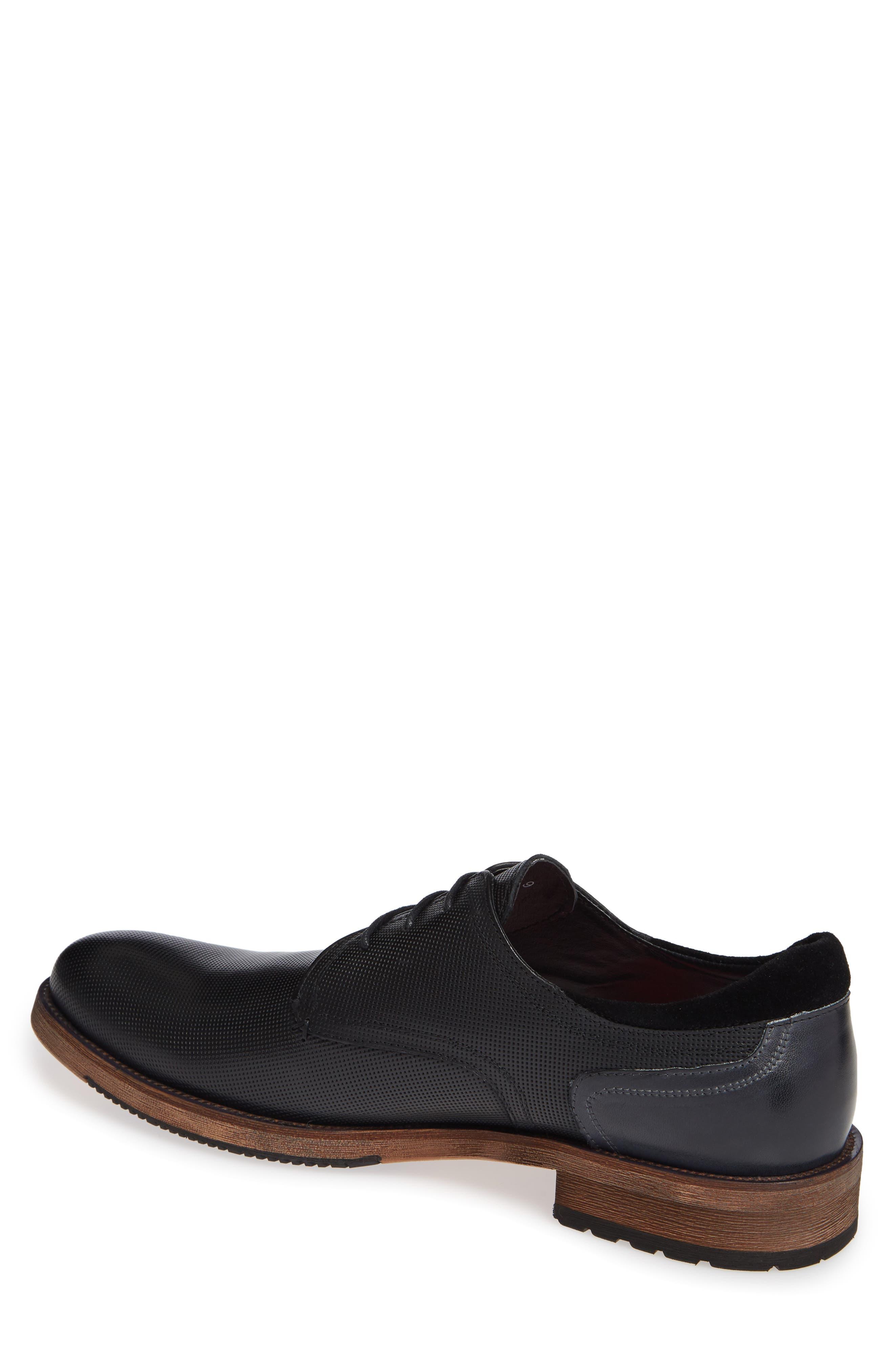 Durham Textured Plain Toe Derby,                             Alternate thumbnail 2, color,                             BLACK