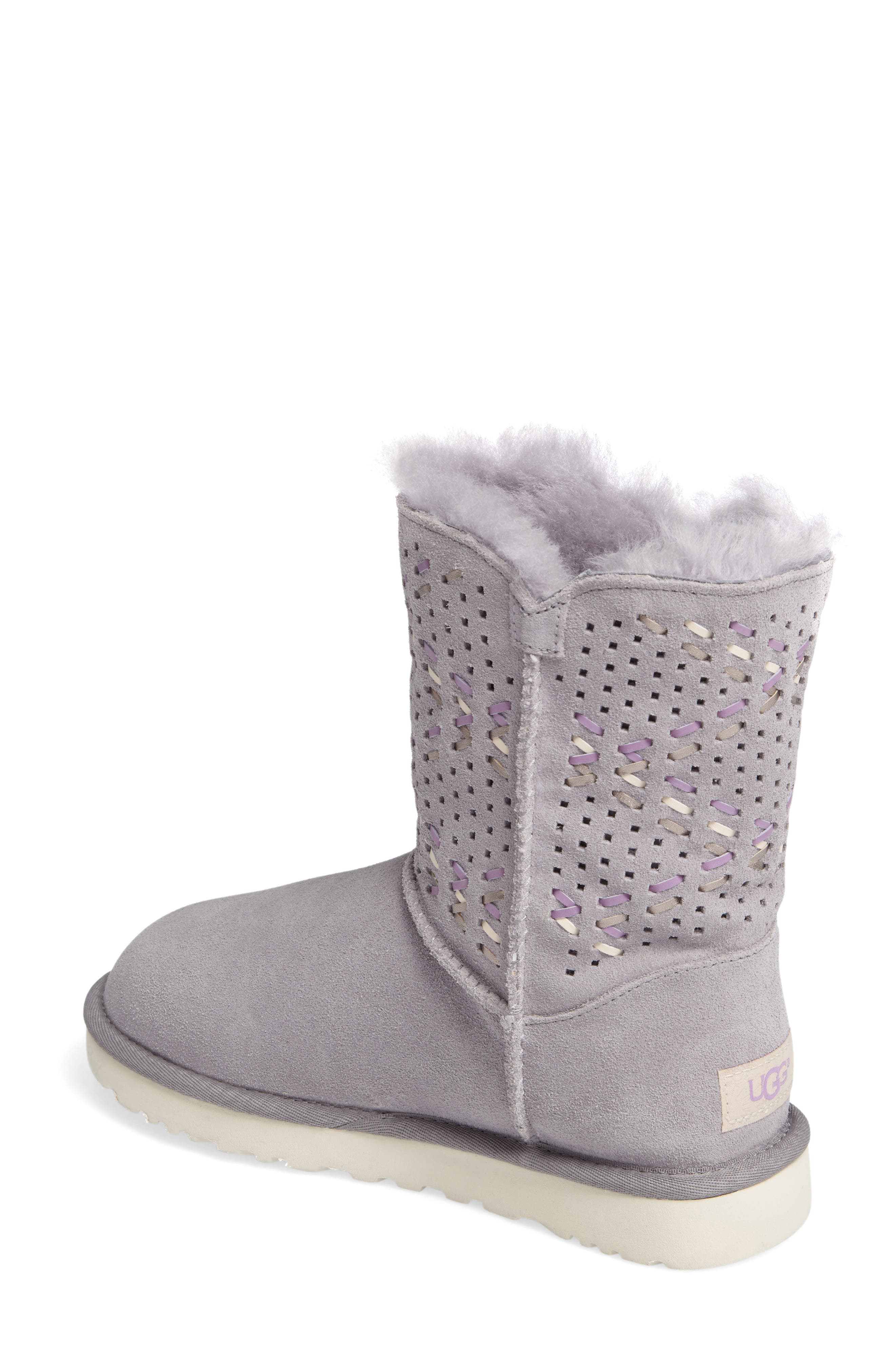 Bailey Button Tehuano Genuine Shearling Boot,                             Alternate thumbnail 2, color,                             055