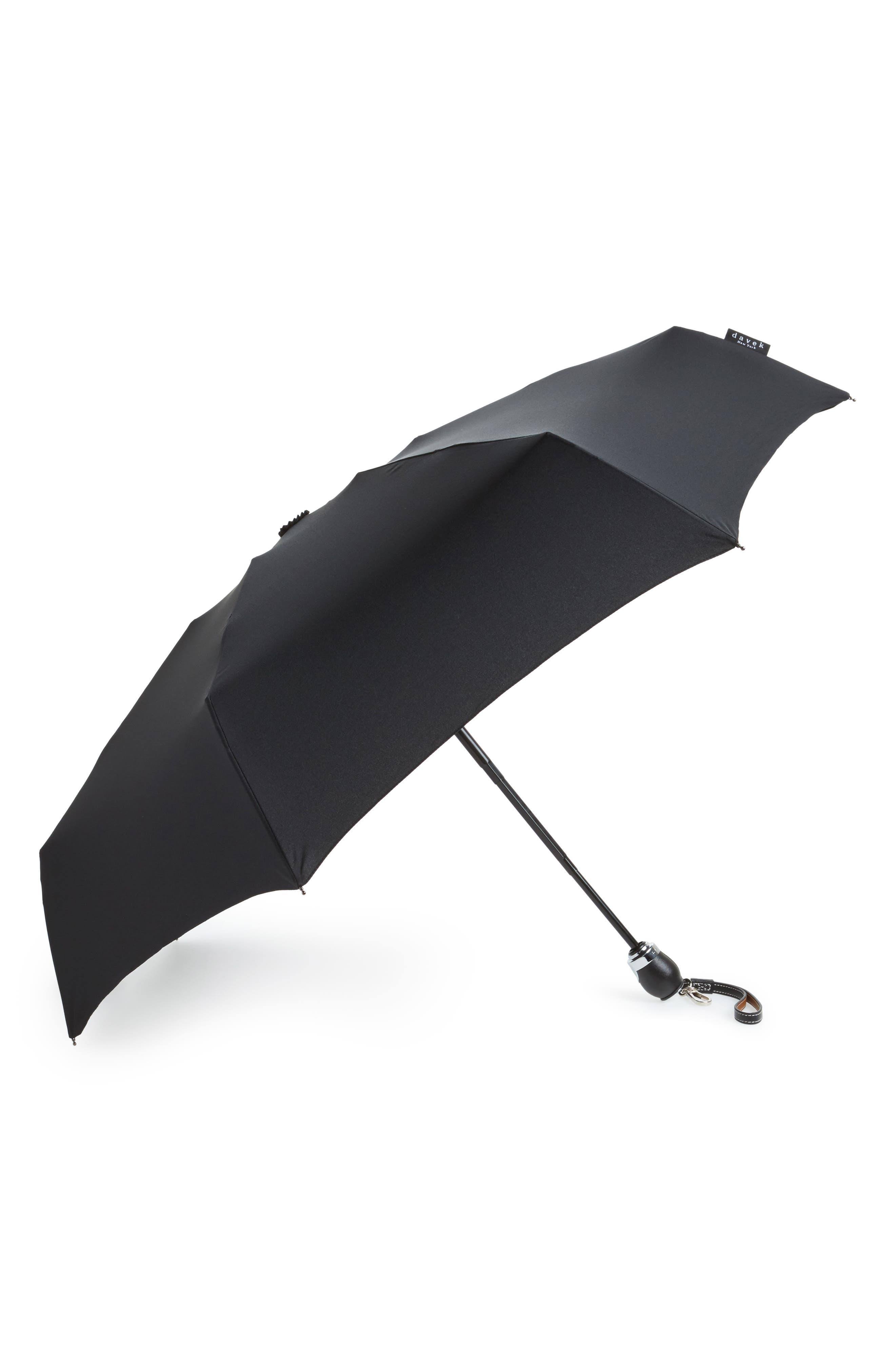 DAVEK,                             Traveler Umbrella,                             Main thumbnail 1, color,                             CLASSIC BLACK