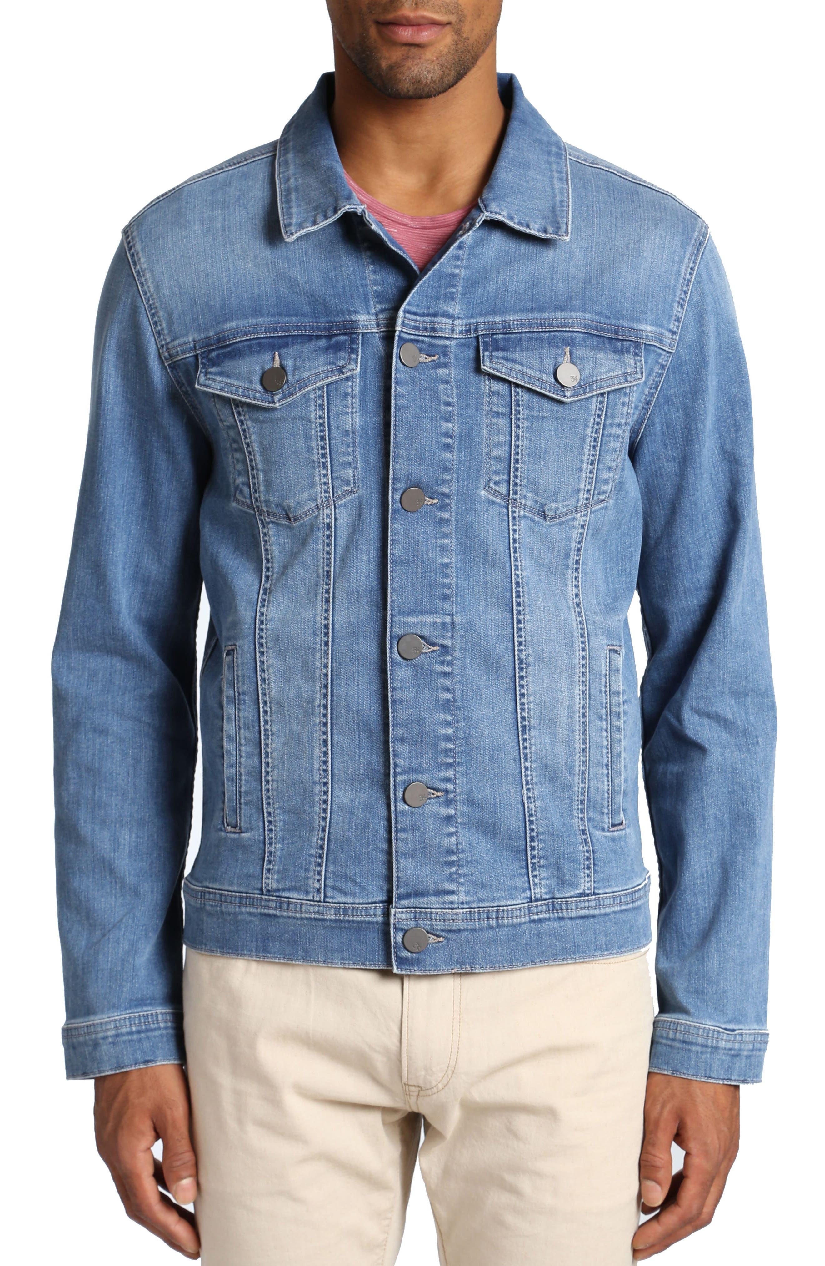 Travis Denim Jacket,                         Main,                         color, MID COMFORT