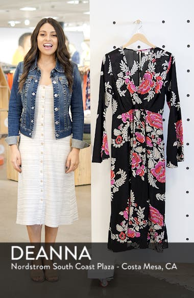 Floral Whispers Floral Midi Dress, sales video thumbnail