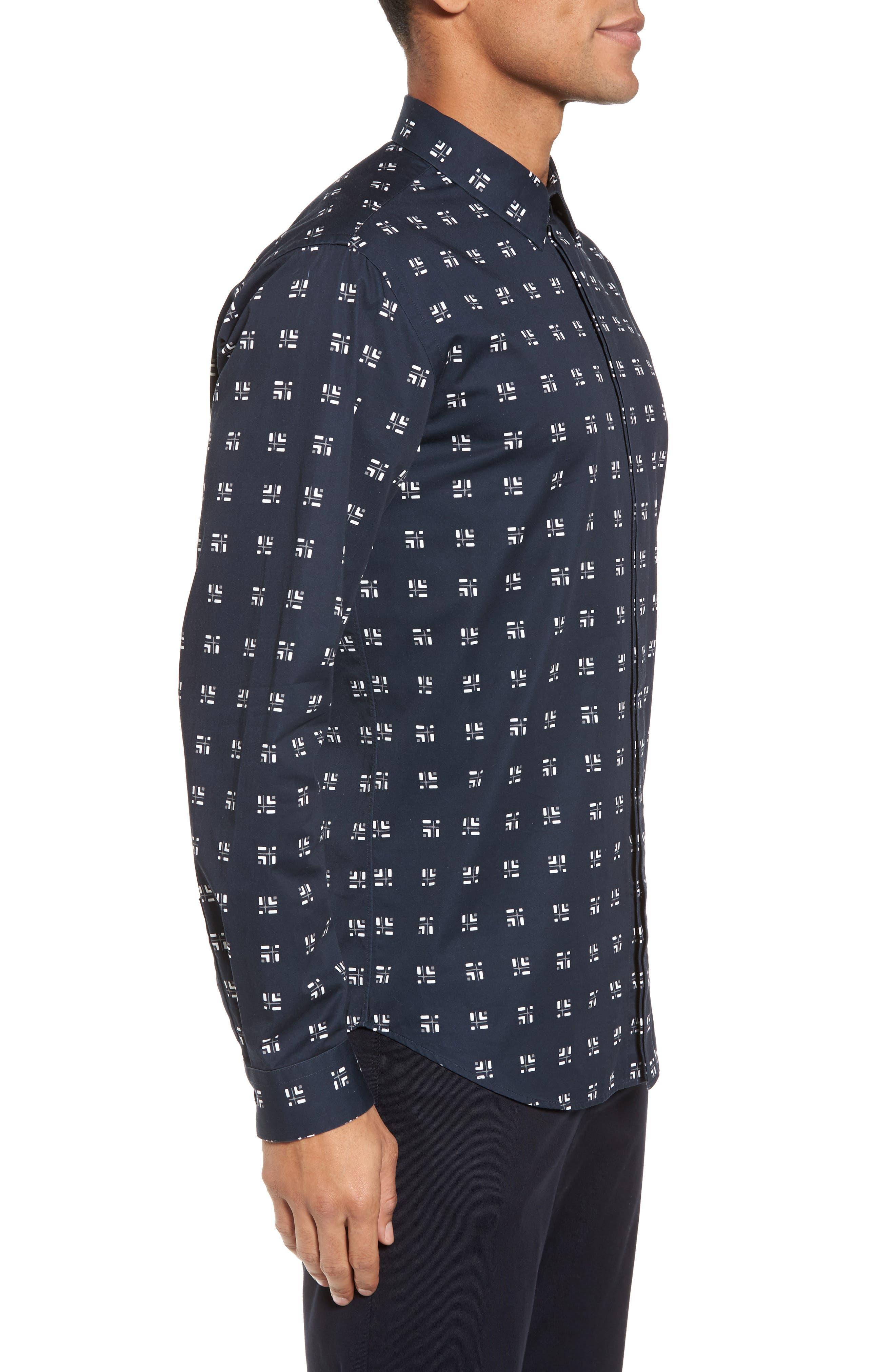Levy Cross Box Regular Fit Sport Shirt,                             Alternate thumbnail 5, color,