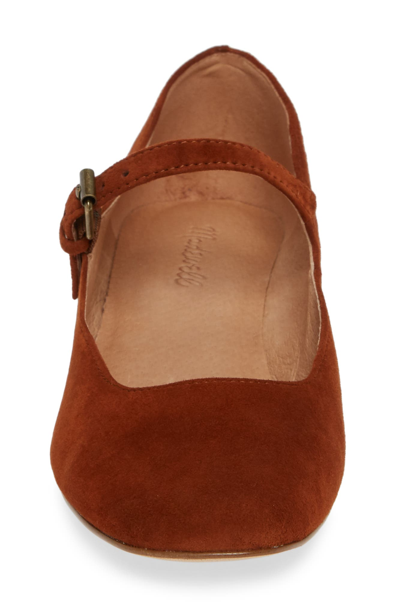 The Delilah Mary Jane Pump,                             Alternate thumbnail 4, color,                             MAPLE SYRUP SUEDE