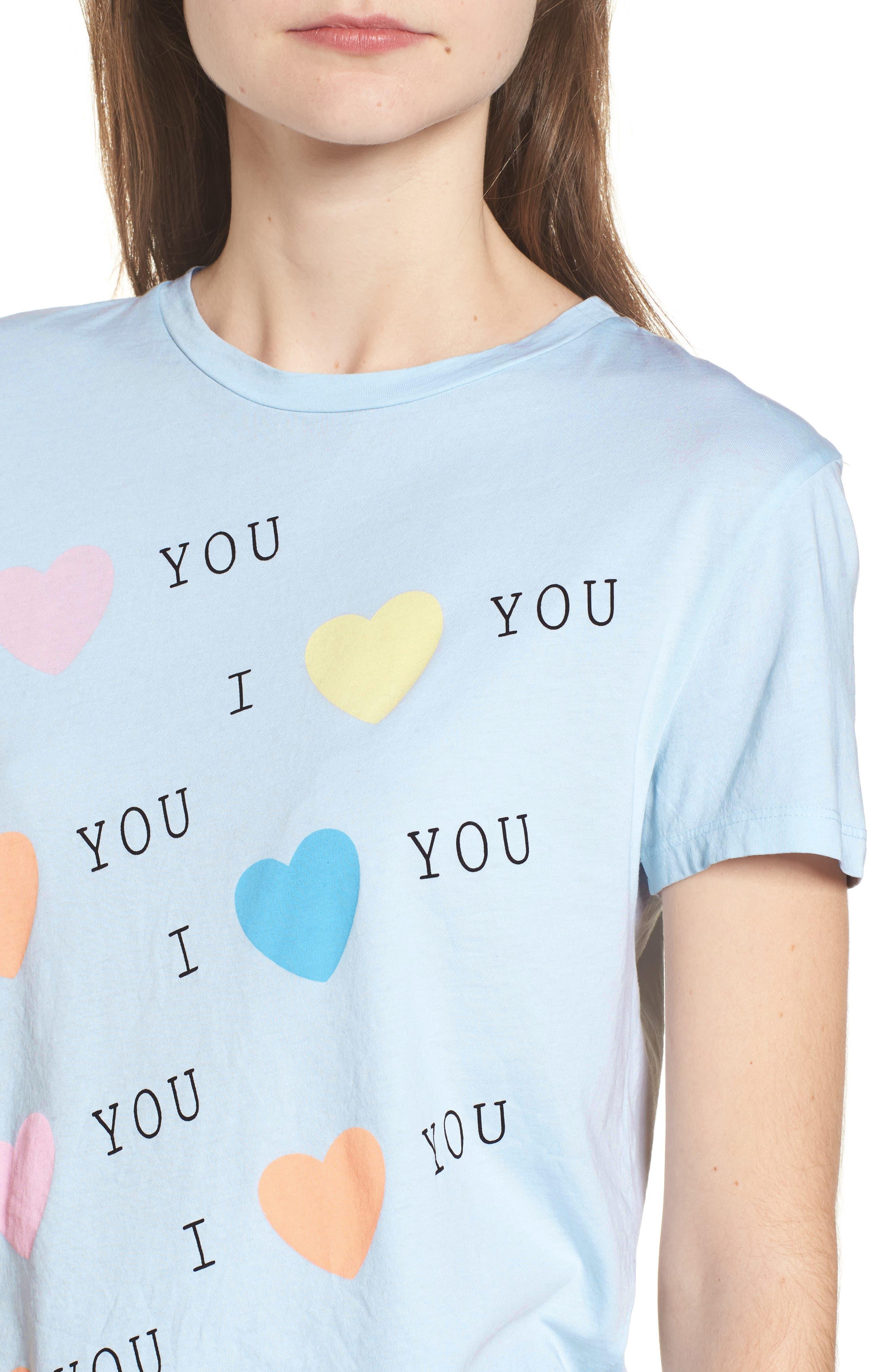 I Love You Tee,                             Alternate thumbnail 4, color,                             401