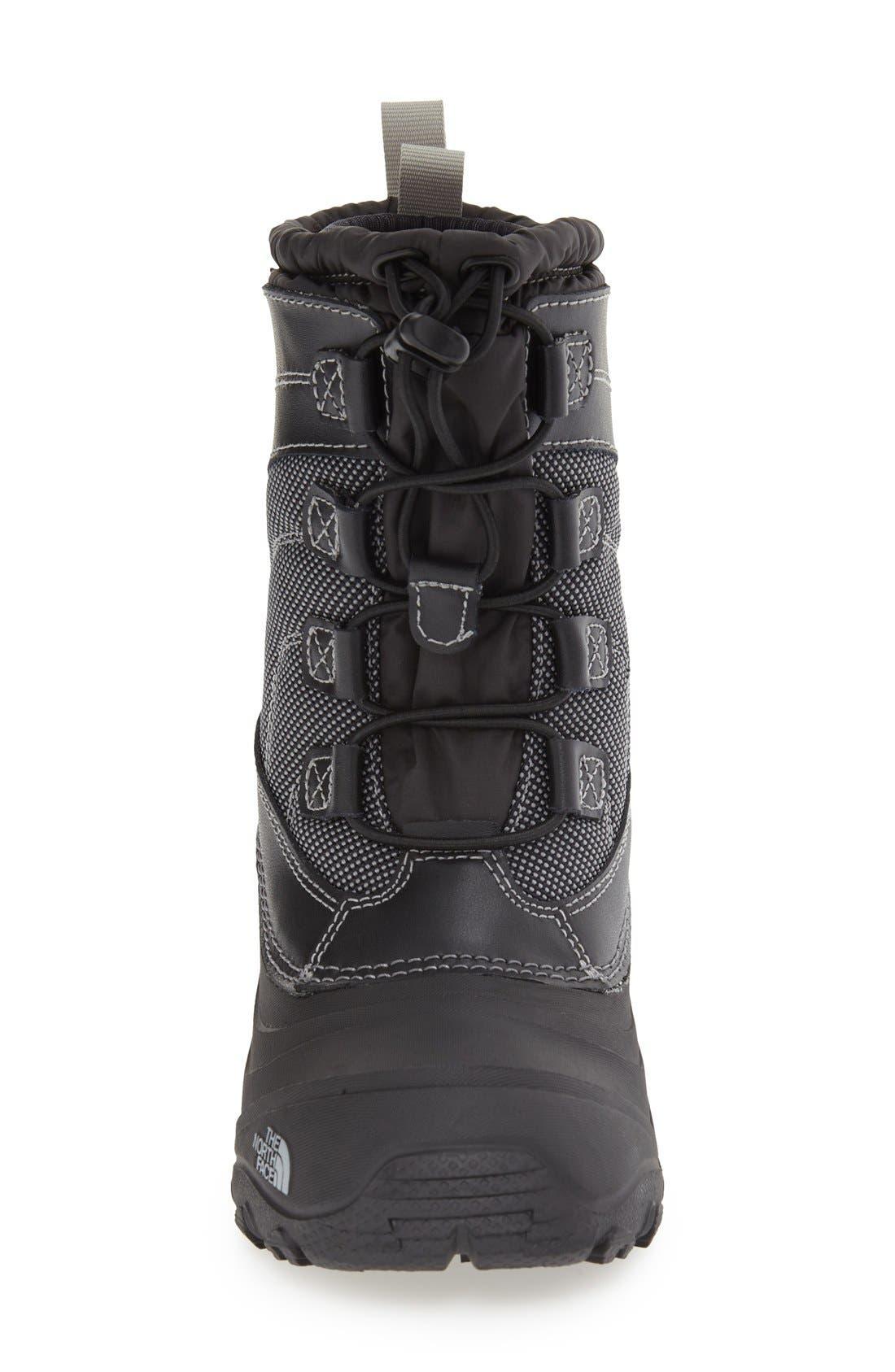 'Alpenglow IV' Bungee Lace Waterproof Boot,                             Alternate thumbnail 4, color,                             BLACK/ BLACK