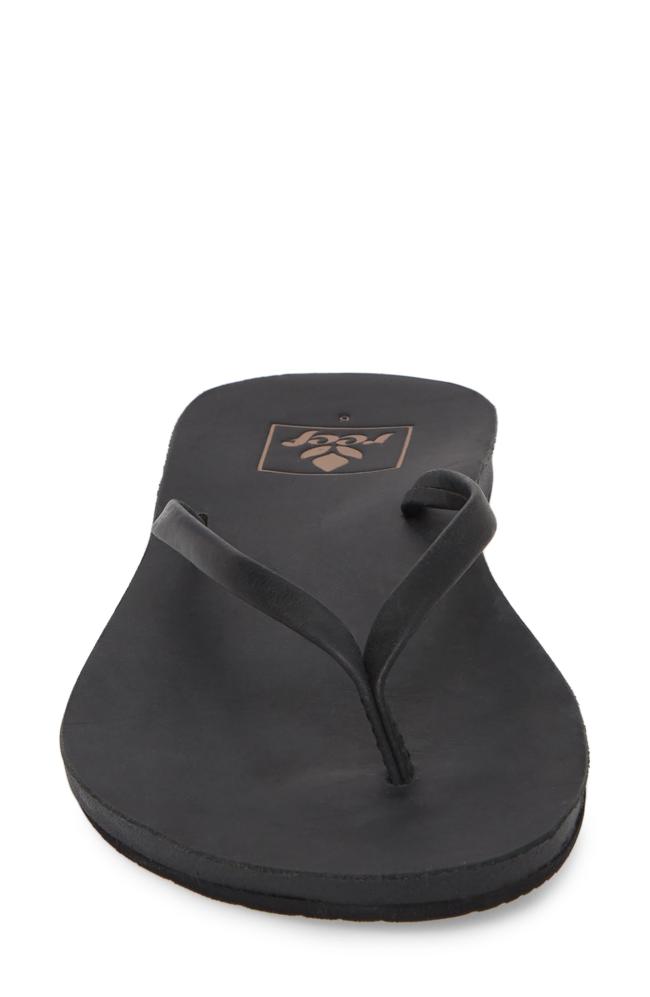Cushion Bounce Flip Flop,                             Alternate thumbnail 4, color,                             BLACK