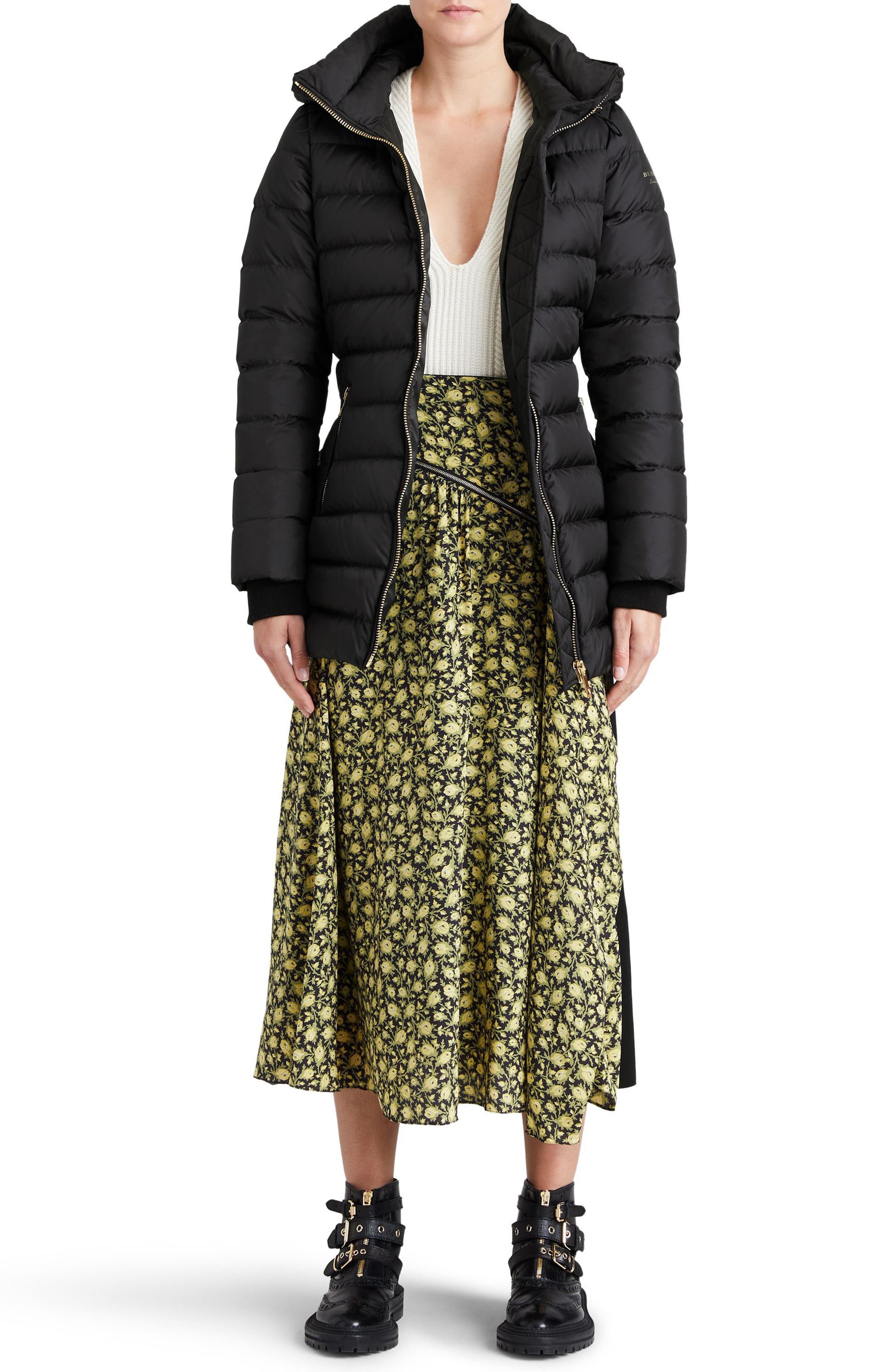 Limefield Hooded Puffer Coat,                             Alternate thumbnail 8, color,                             001