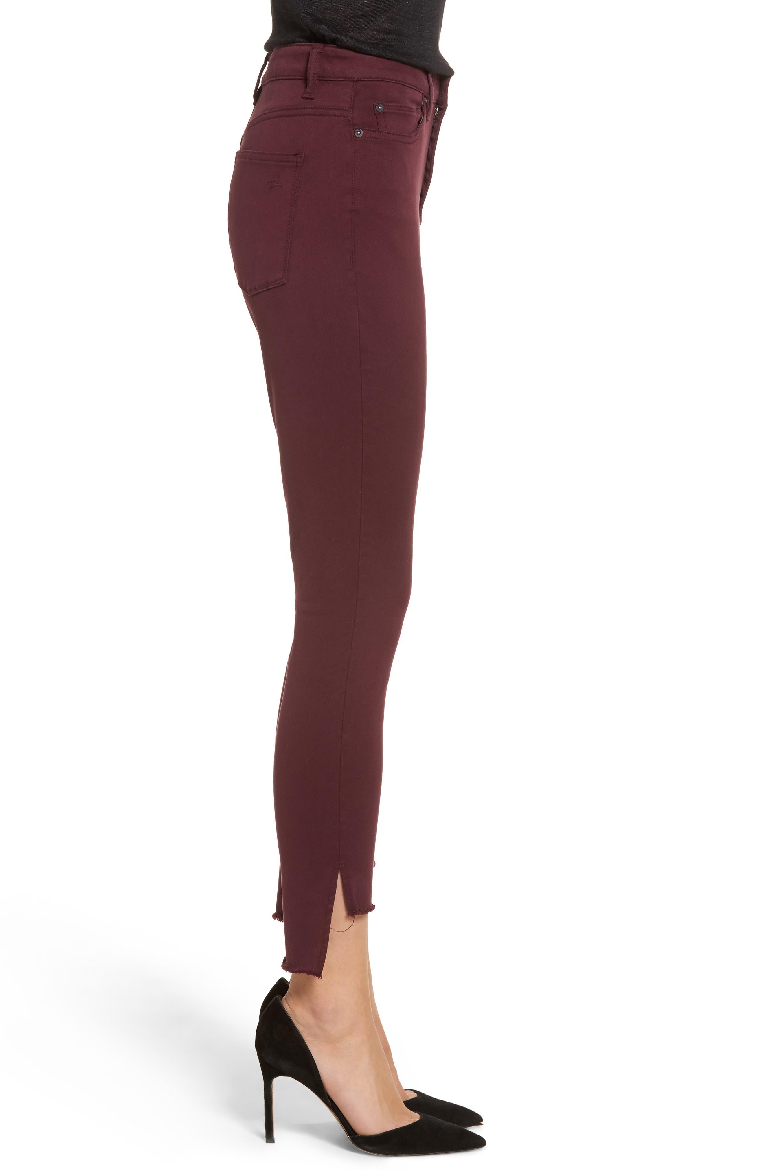 Chrissy Trimstone High Waist Step Hem Skinny Jeans,                             Alternate thumbnail 3, color,