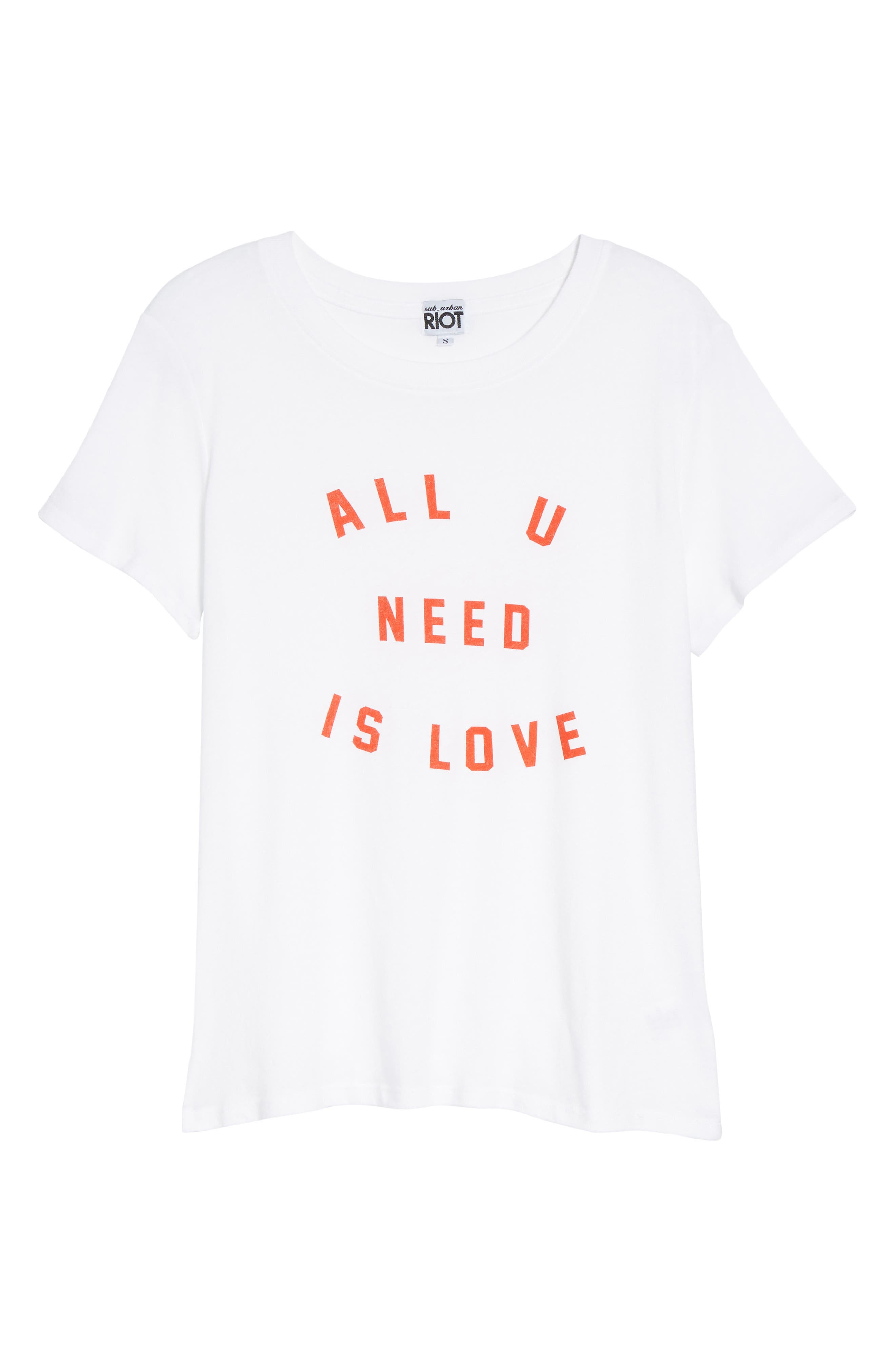 All U Need Is Love Graphic Tee,                             Alternate thumbnail 6, color,                             100