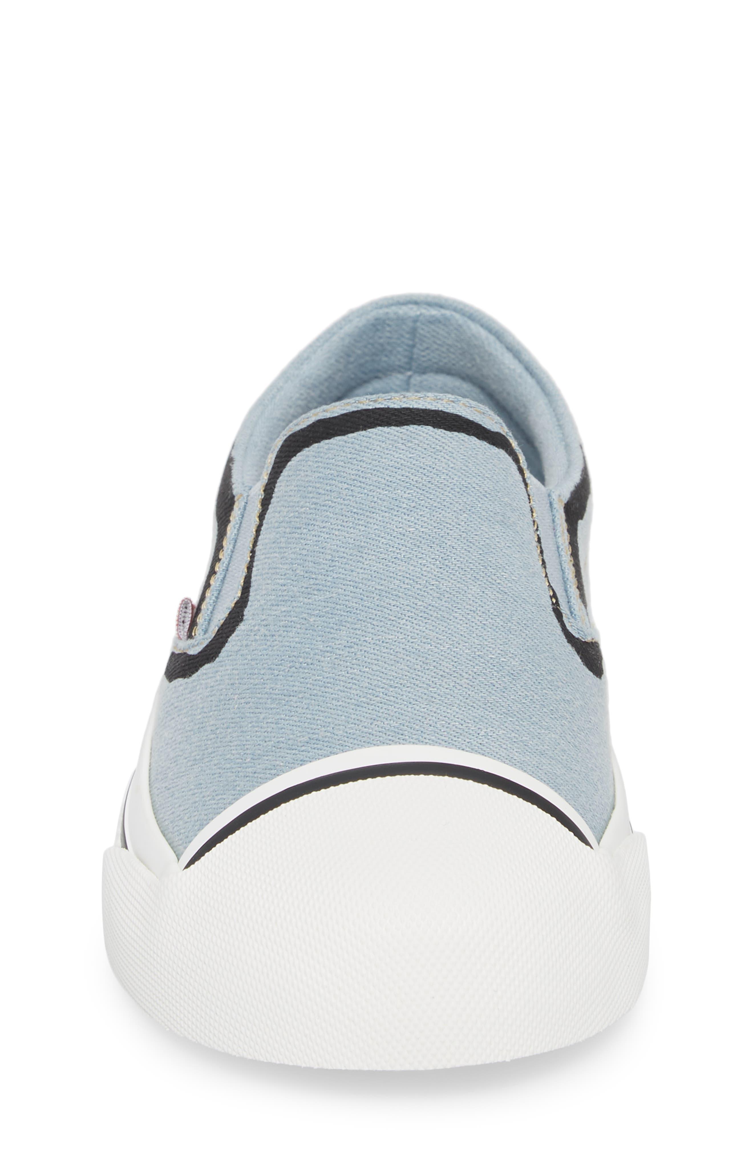 Lipton Slip-On Sneaker,                             Alternate thumbnail 4, color,                             LIGHT BLUE
