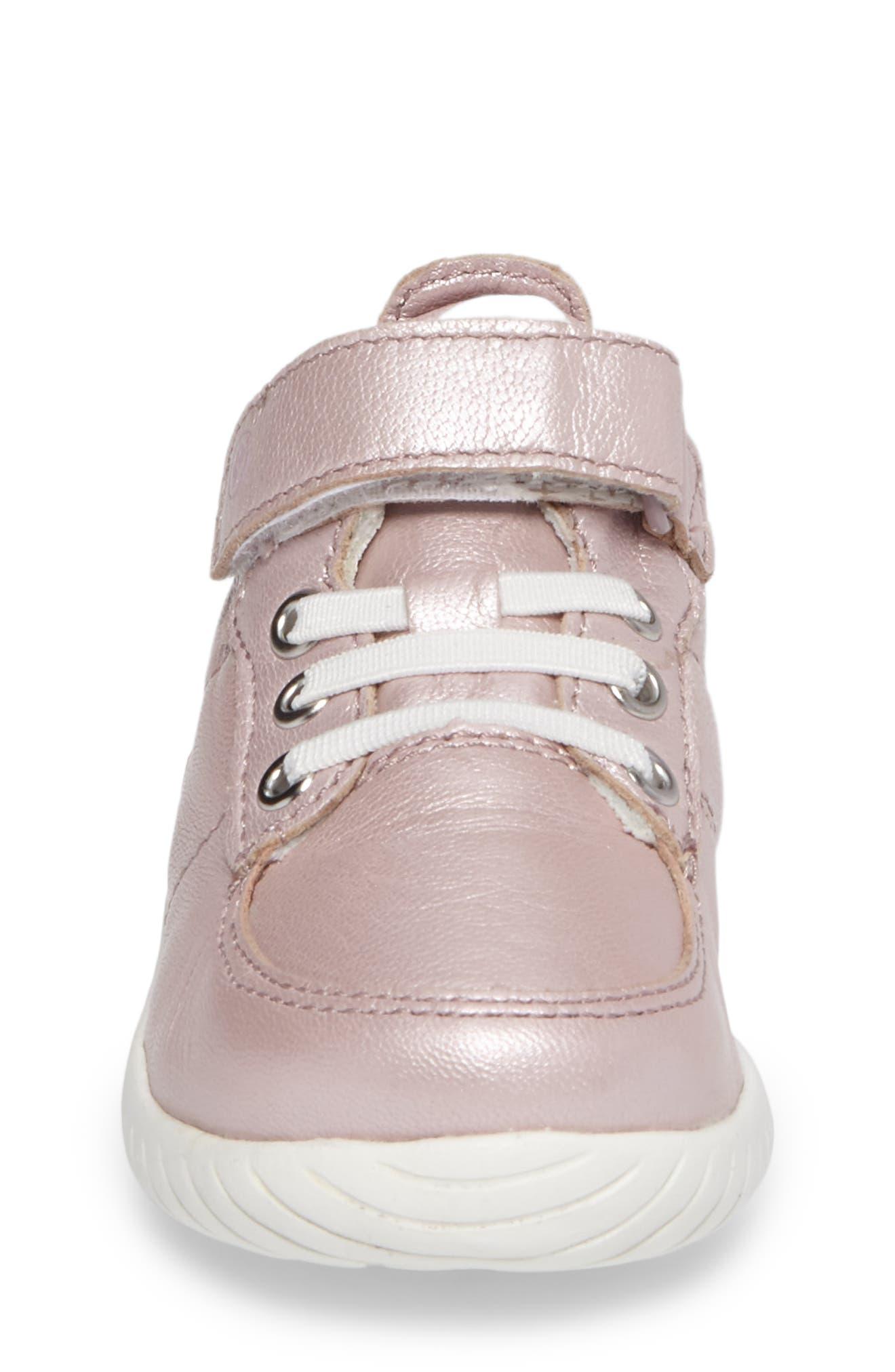 Bailey High Top Sneaker,                             Alternate thumbnail 4, color,                             PINK METALLIC