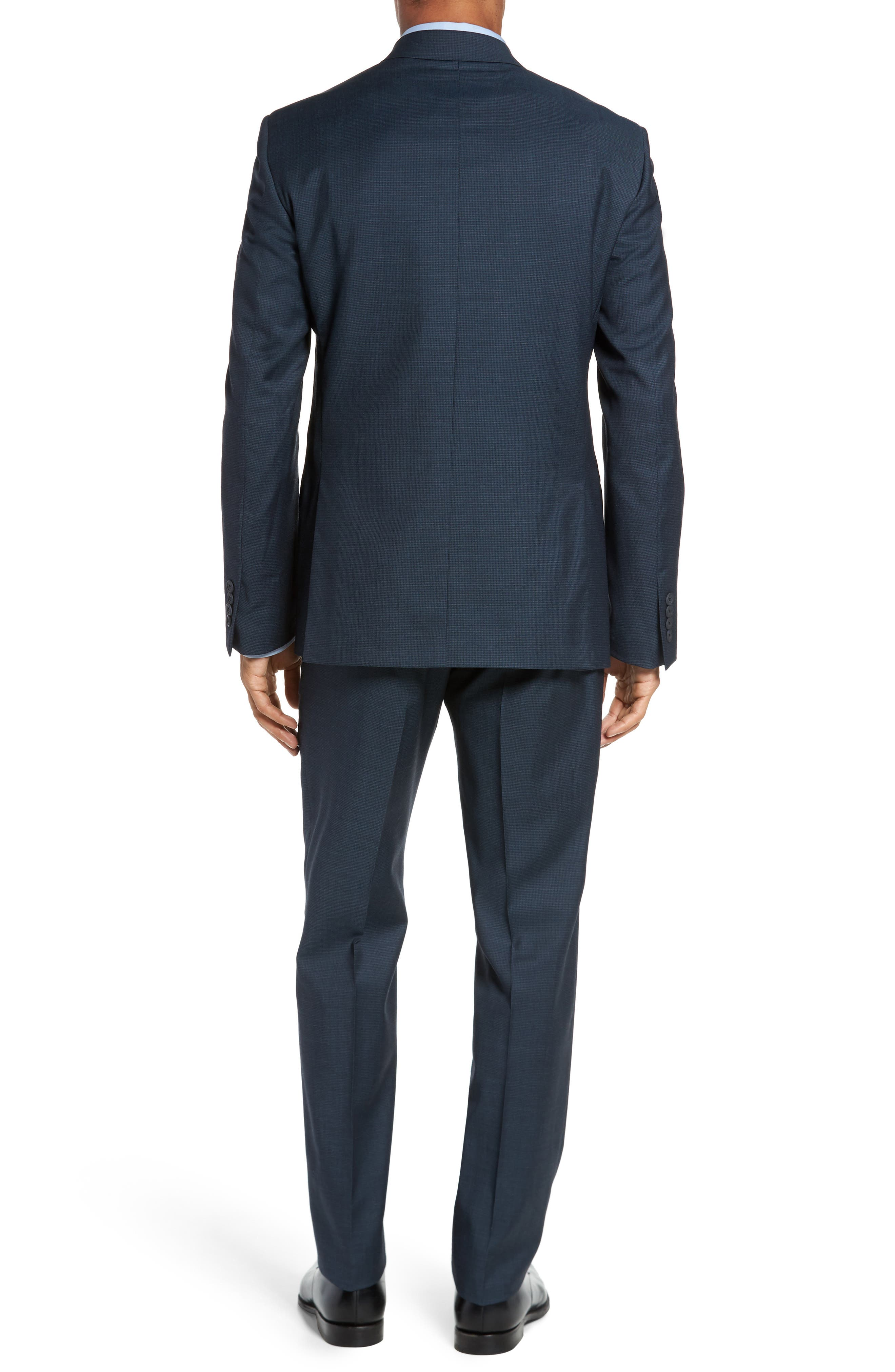Classic Fit Check Wool Suit,                             Alternate thumbnail 8, color,