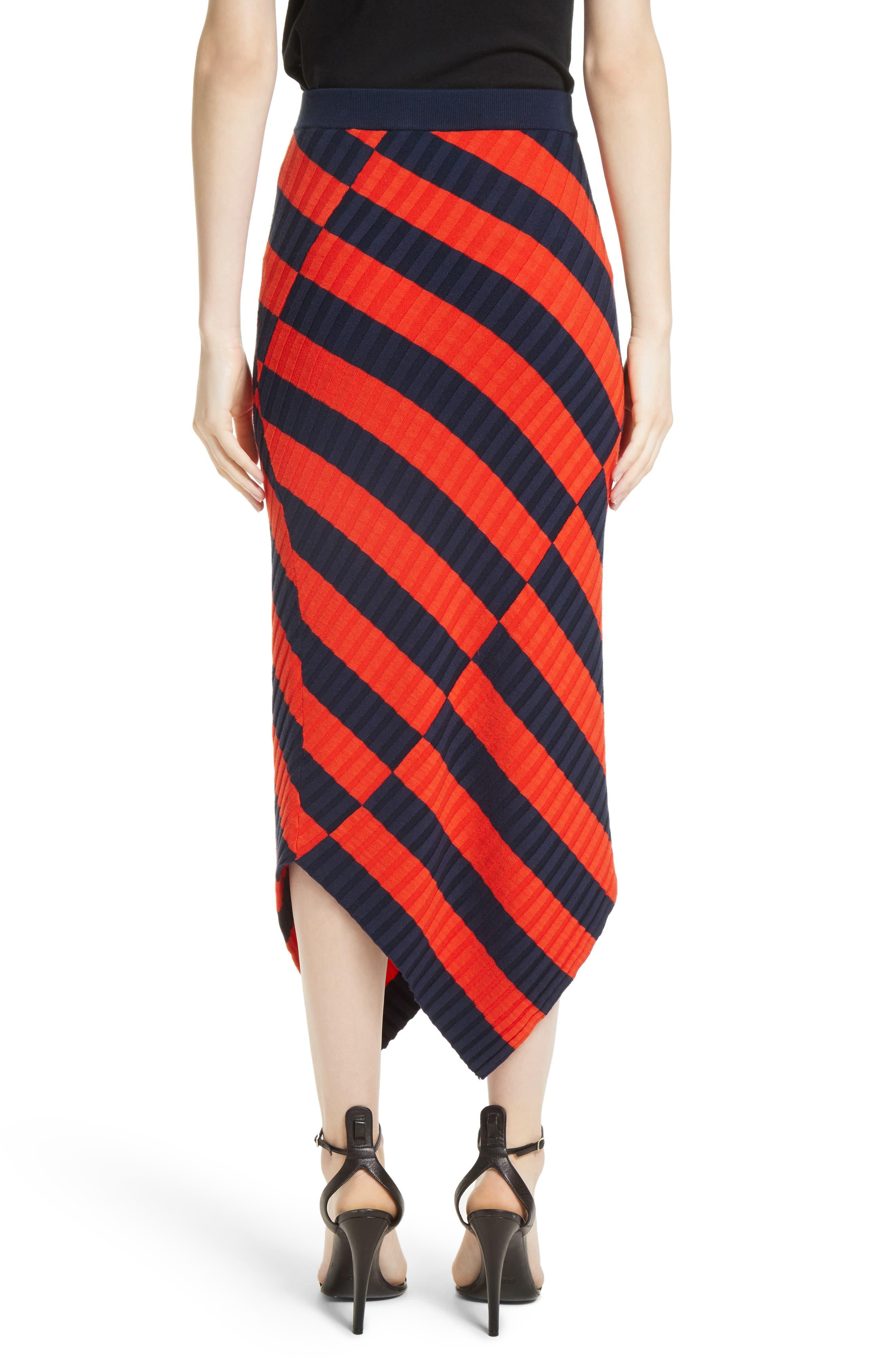 Asymmetrical Stripe Midi Skirt,                             Alternate thumbnail 2, color,                             830